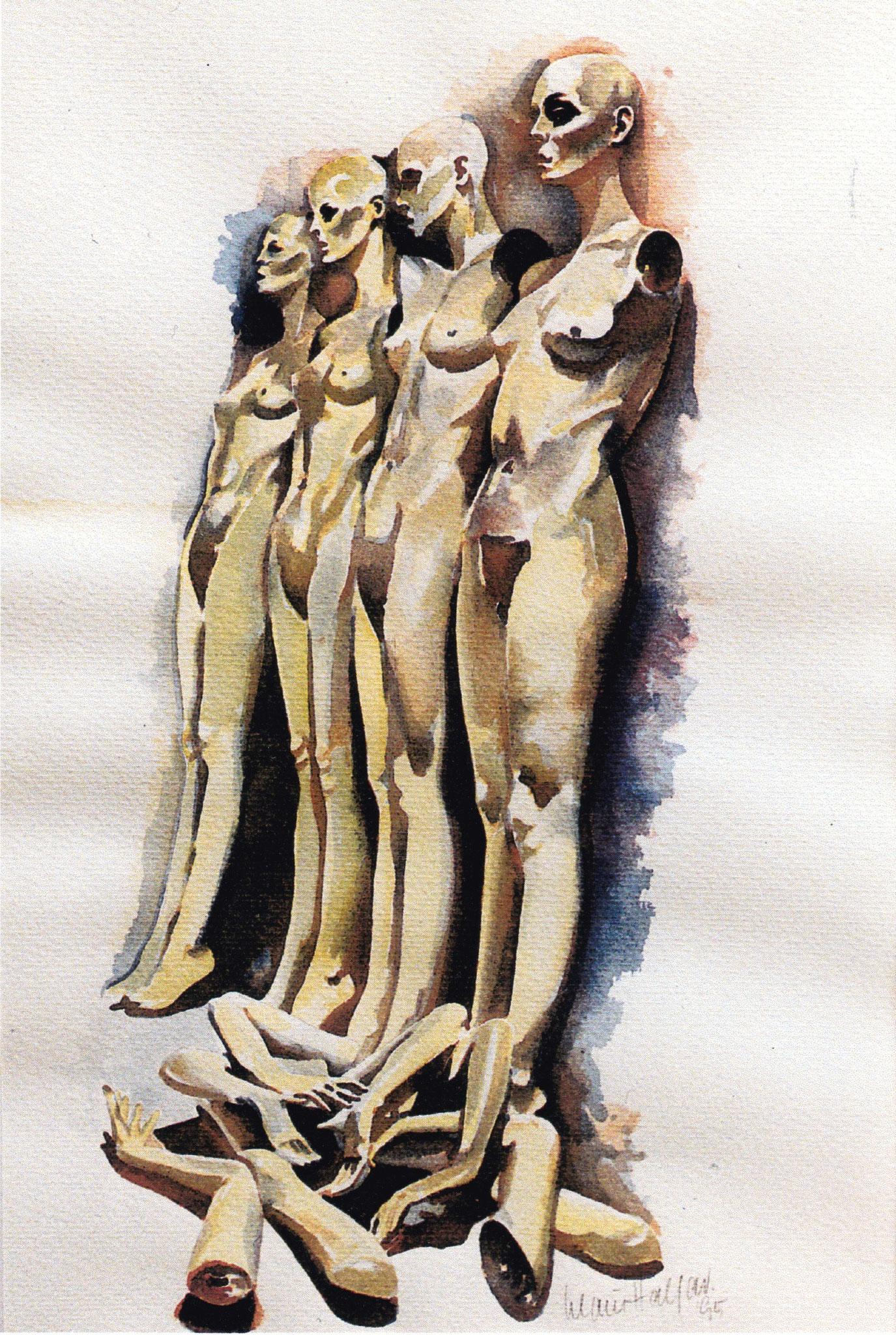 ' Abgelehnt ' Aquarell, 35 x 25 cm, 1995