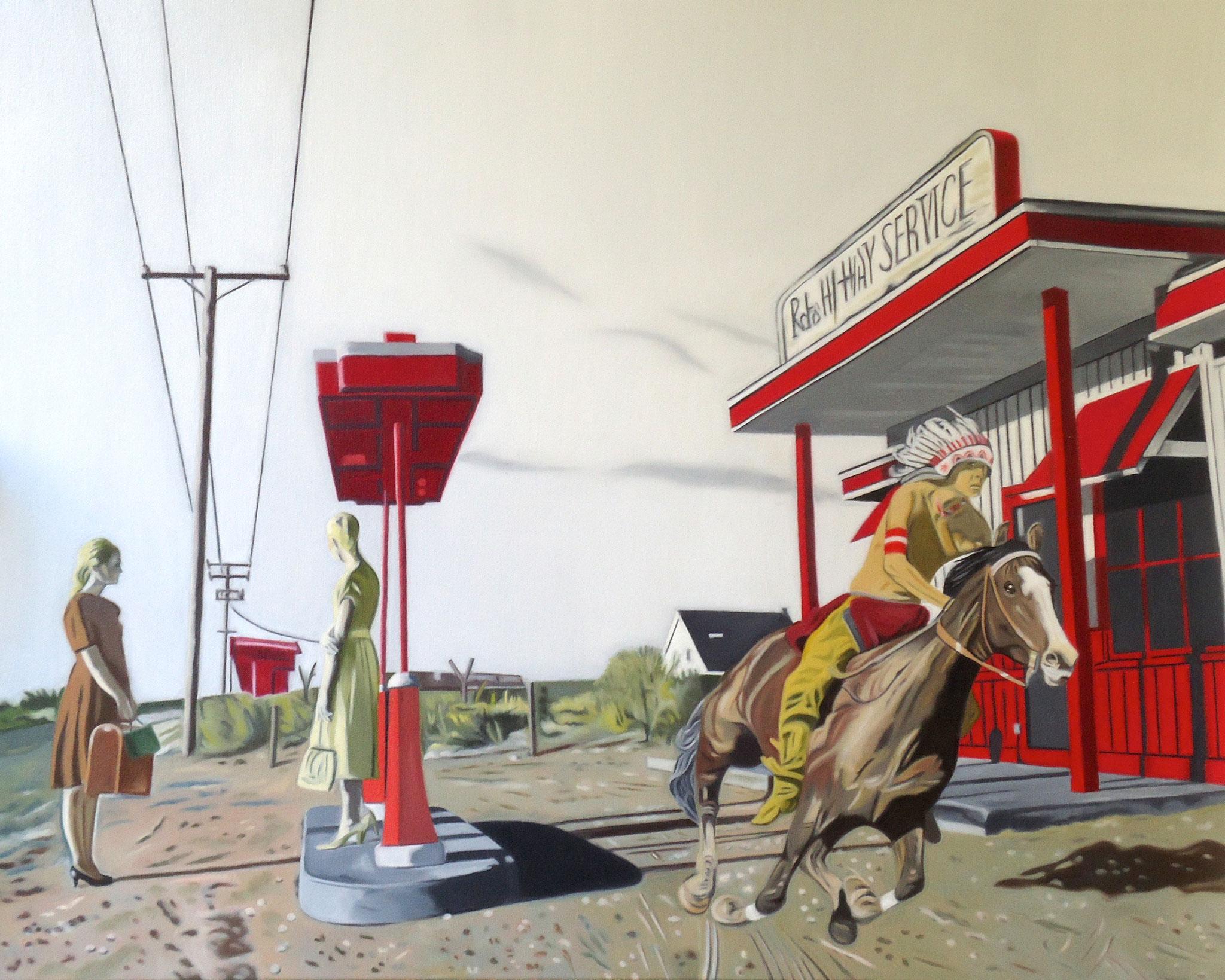' Go West ' Öl a. LW, 80 x 100 cm, 2018