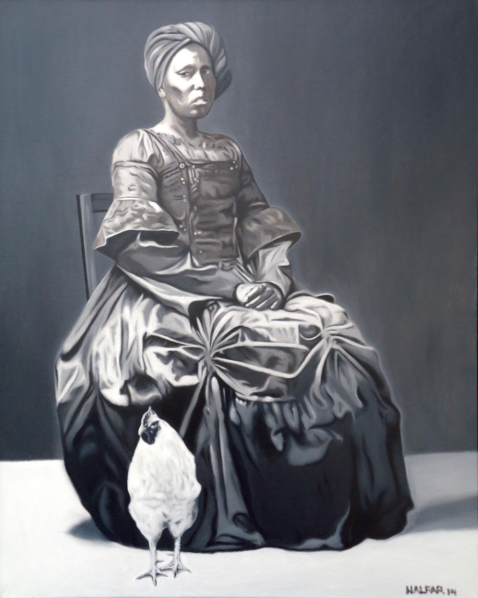 ' Schwarze Magie ' Öl a. LW, 100 x 80 cm, 2014