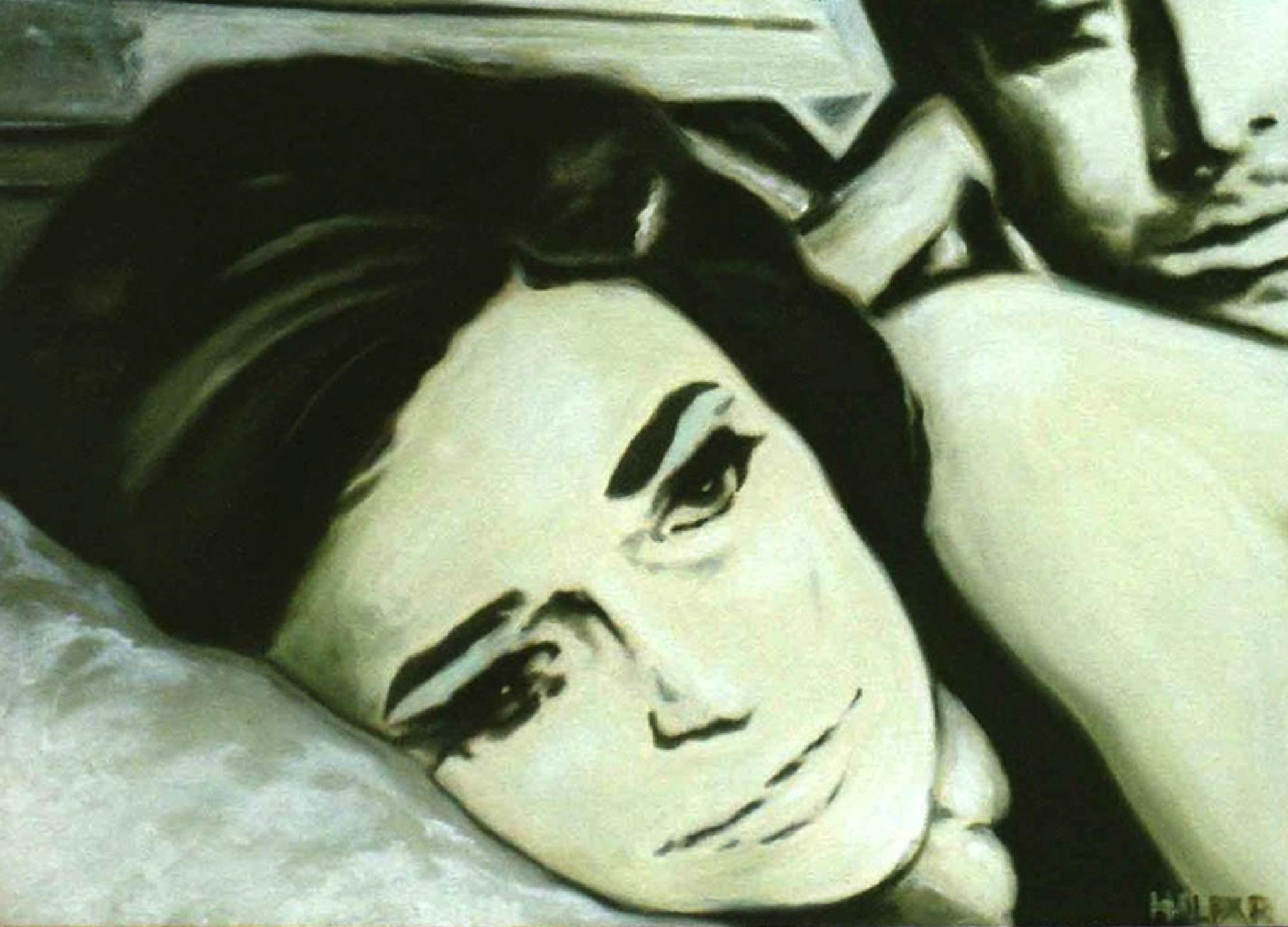 ' Die Lüge ' Öl a. LW, 40 x 50, 2001