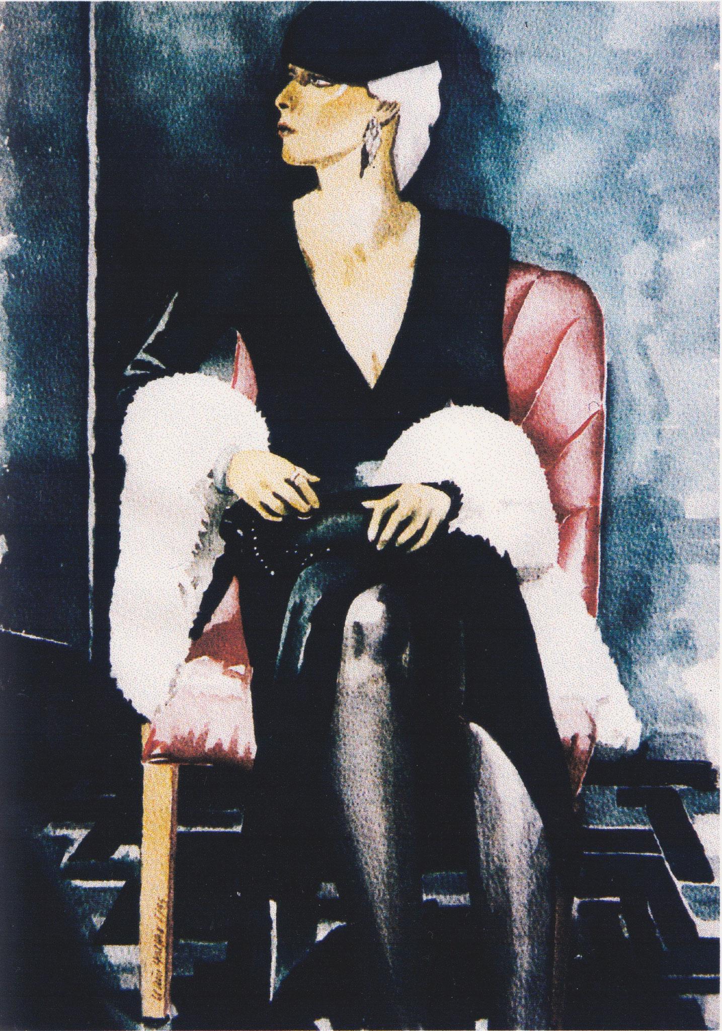 ' Frau Grün ' Aquarell, 40 x 30 cm, 1995