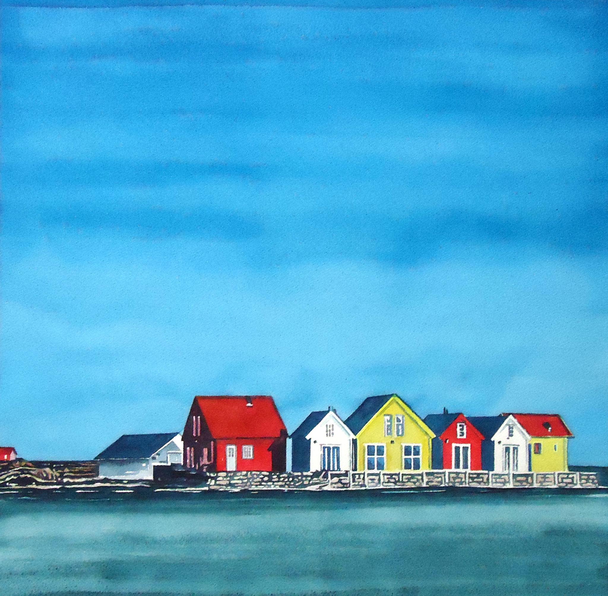 ' Weiter Weg ' Aquarell, 40 x 40 cm, 1994