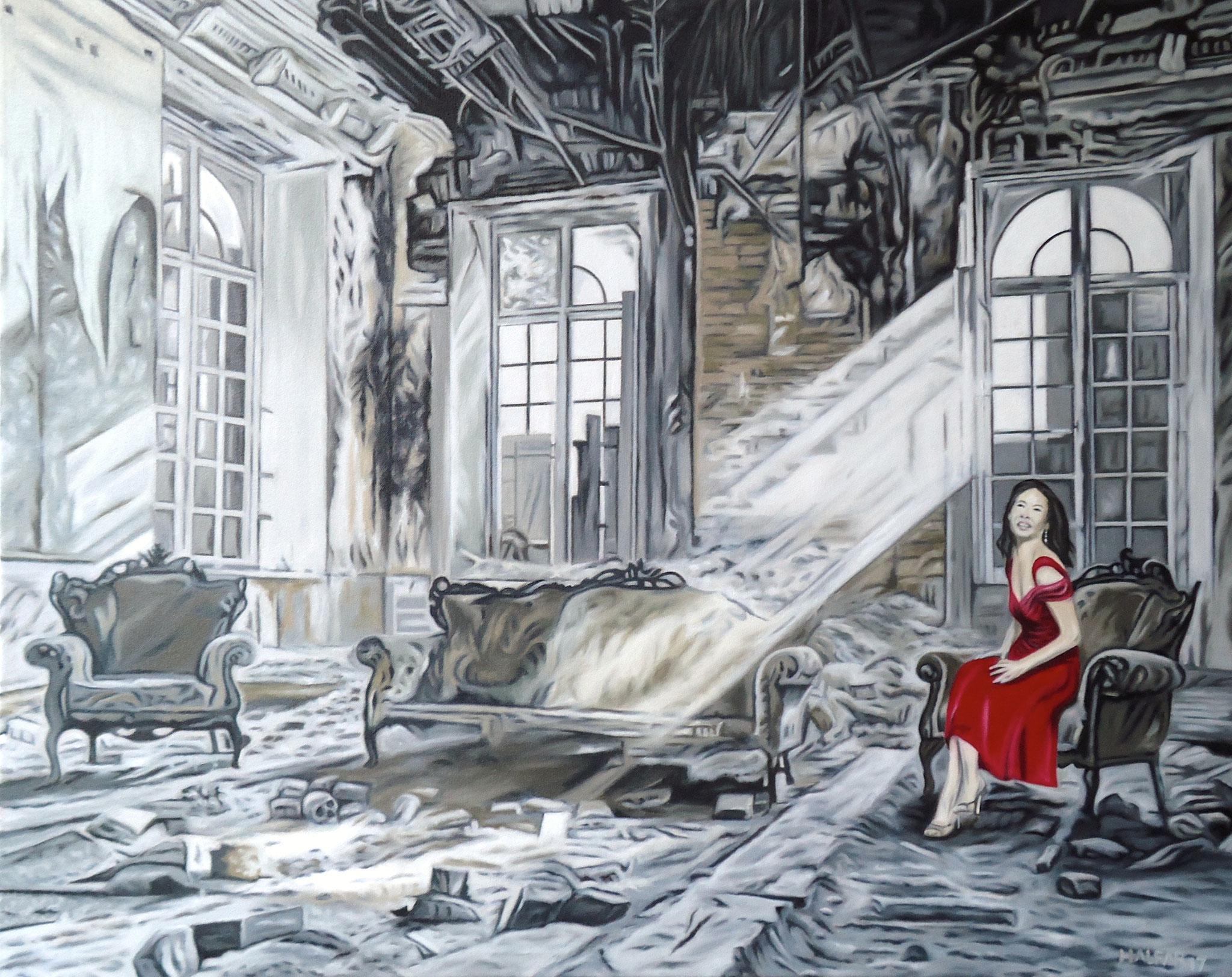 ' Der letzte Tanz ' Öl auf LW, 80 x 100 cm, 2017