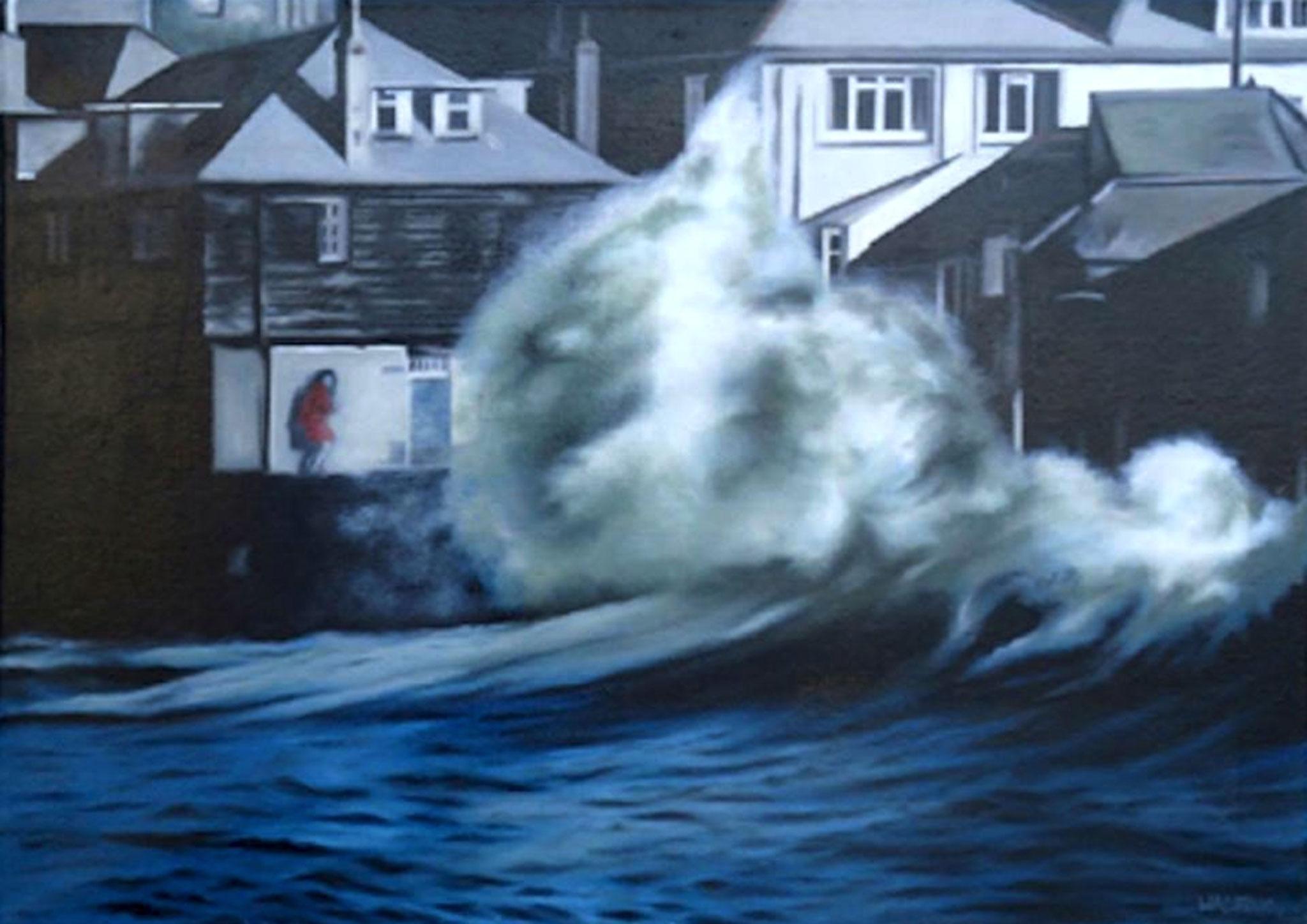 ' Angst ' Öl a. LW, 40 x 50 cm, 2001