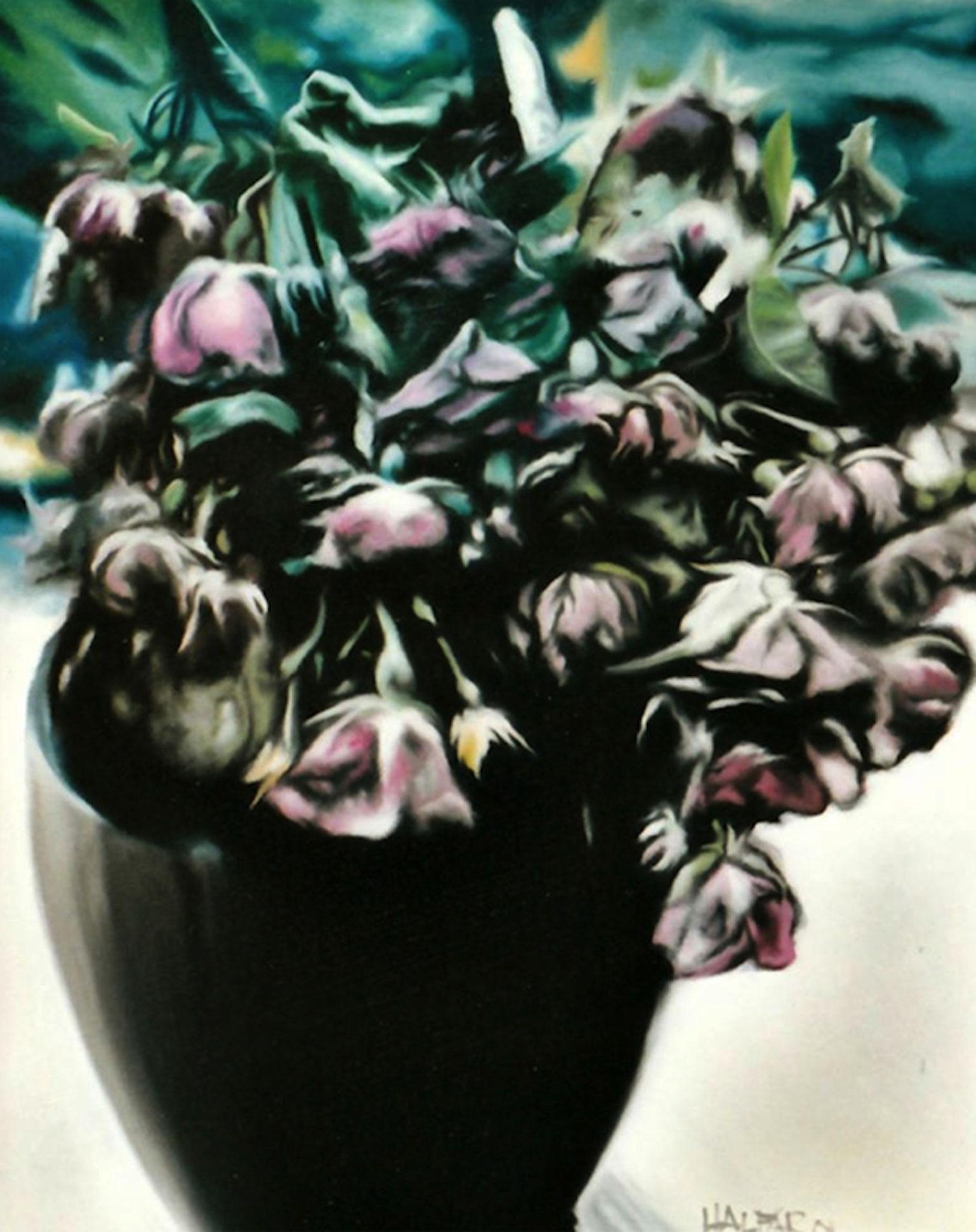 ' Rosentod ' Öl auf LW, 50 x 40 cm, 1994