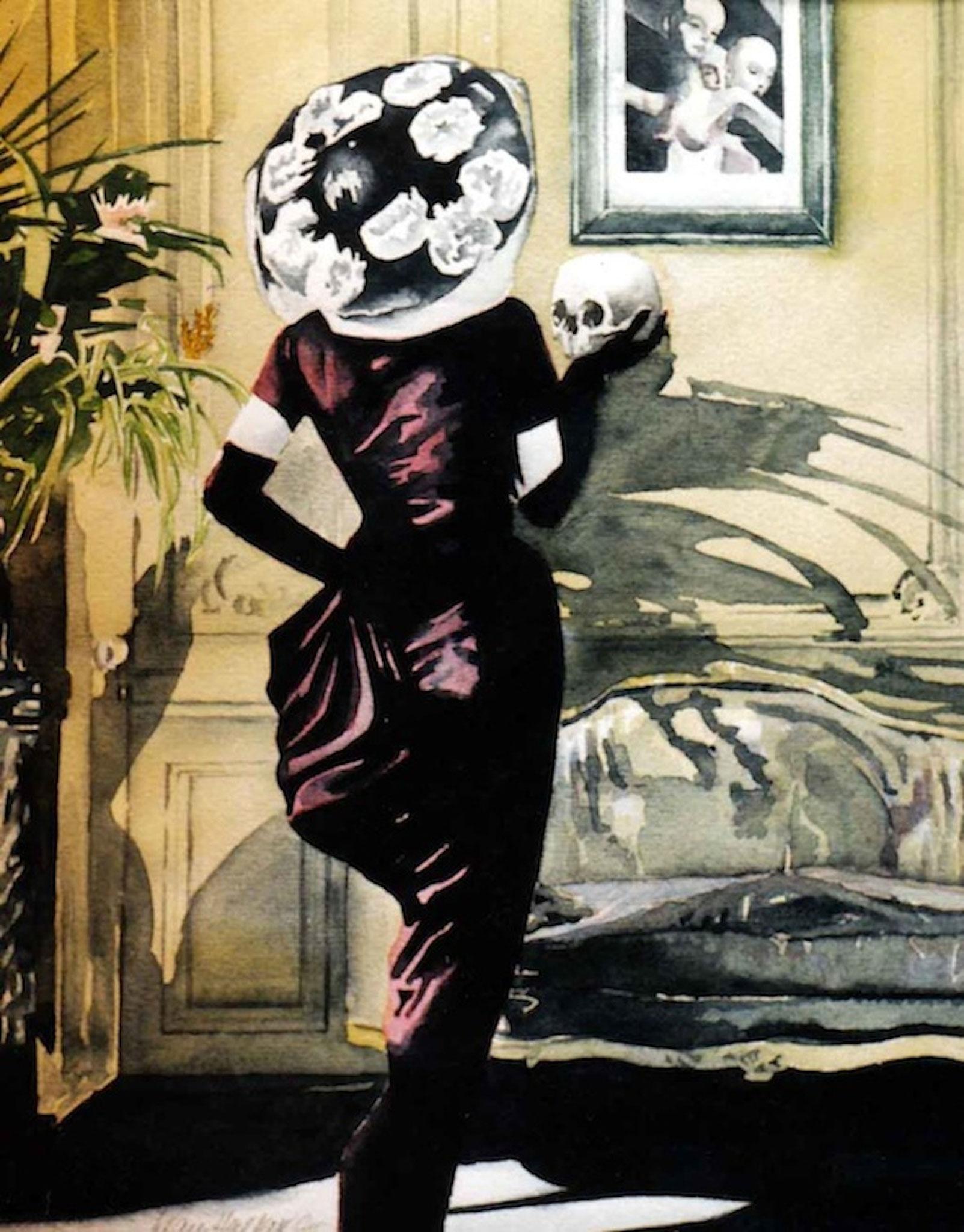 ' Im Salon ' Aquarell, ca. 40 x 30 cm, 1992