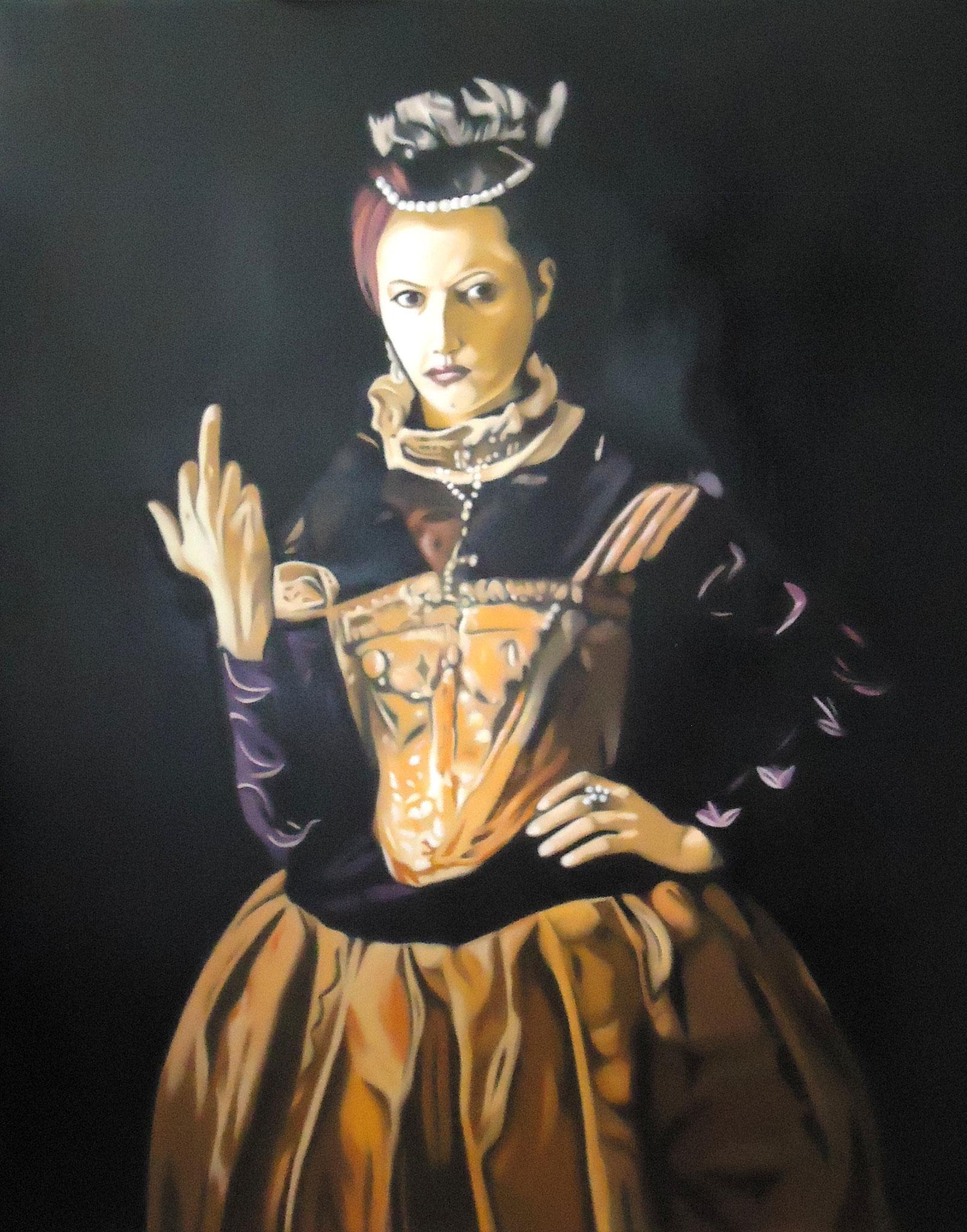 ' Not amused ' Öl a. LW, 100 x 80 cm, 2014