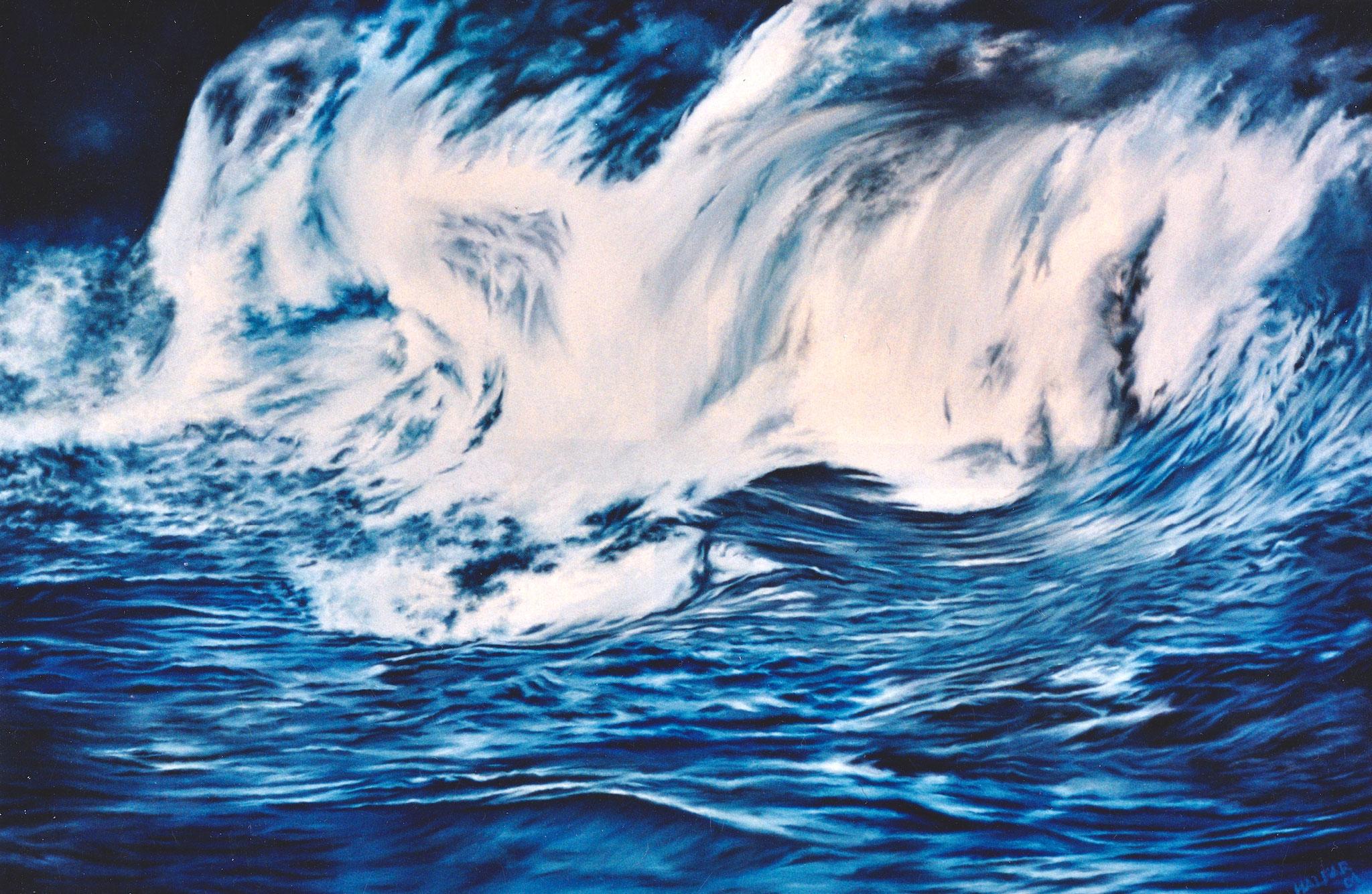 ' Medusa ' Öl a. LW, 100 x 150 cm, 2001