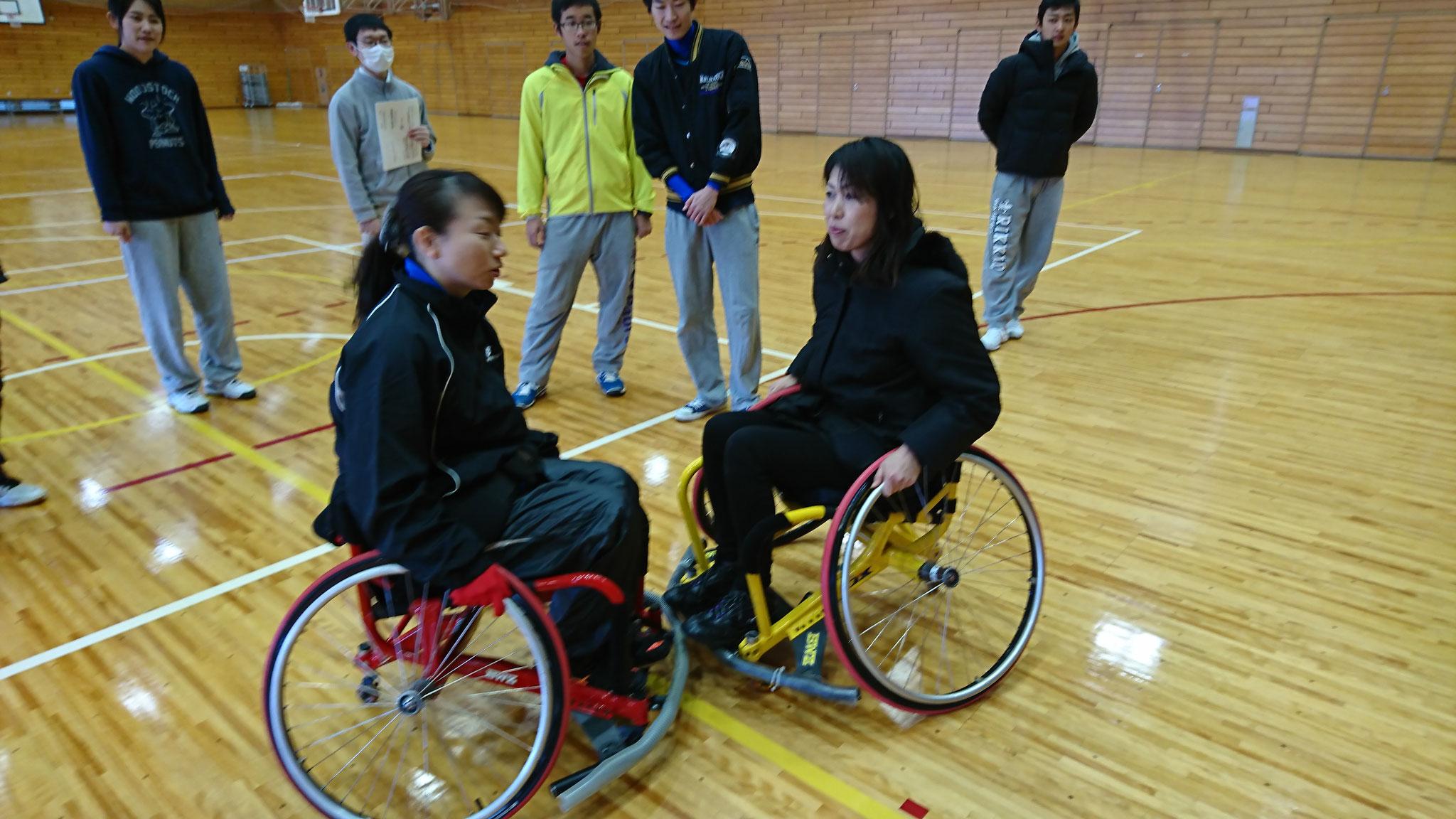 競技用車椅子 ぶつかった時の衝撃を体験しました