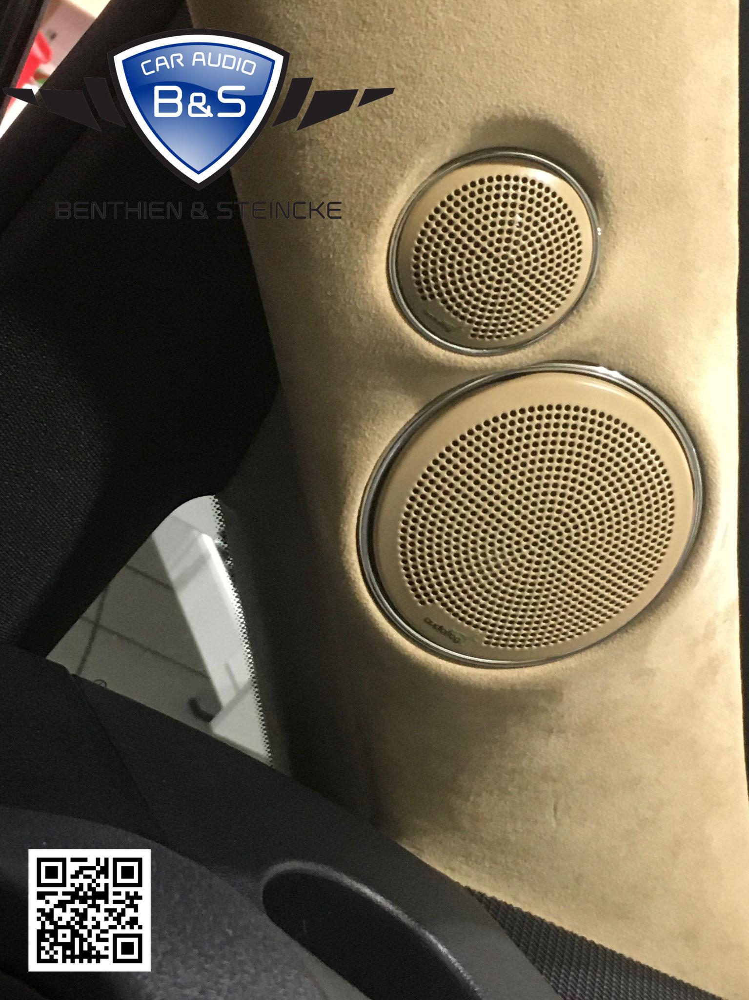 Pure Elegance und selbst die originalen Audiofrog Logos sind auch den neu lackierten Gittern.