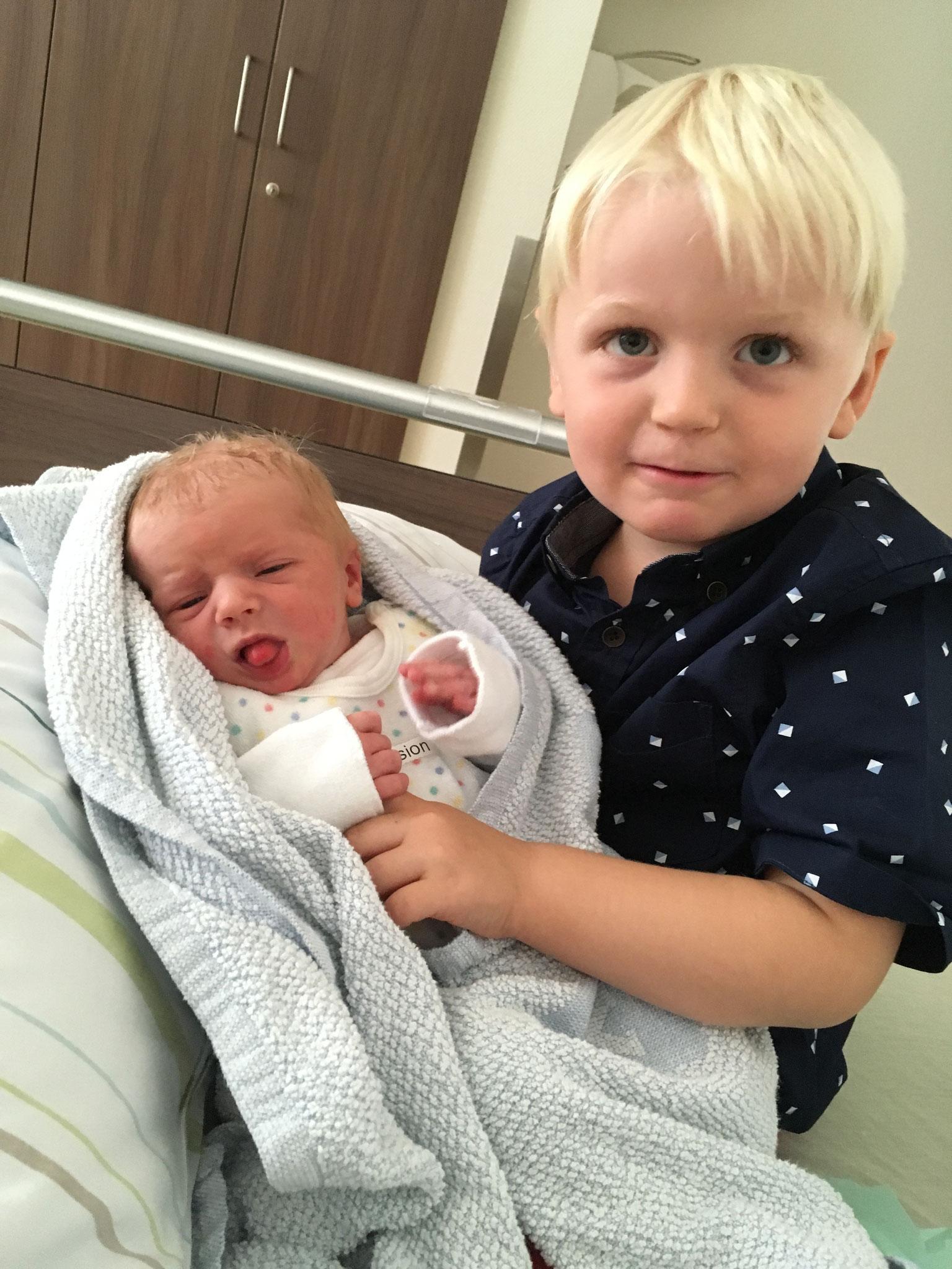 Liam, Oktober 2014 & Matti, September 2018