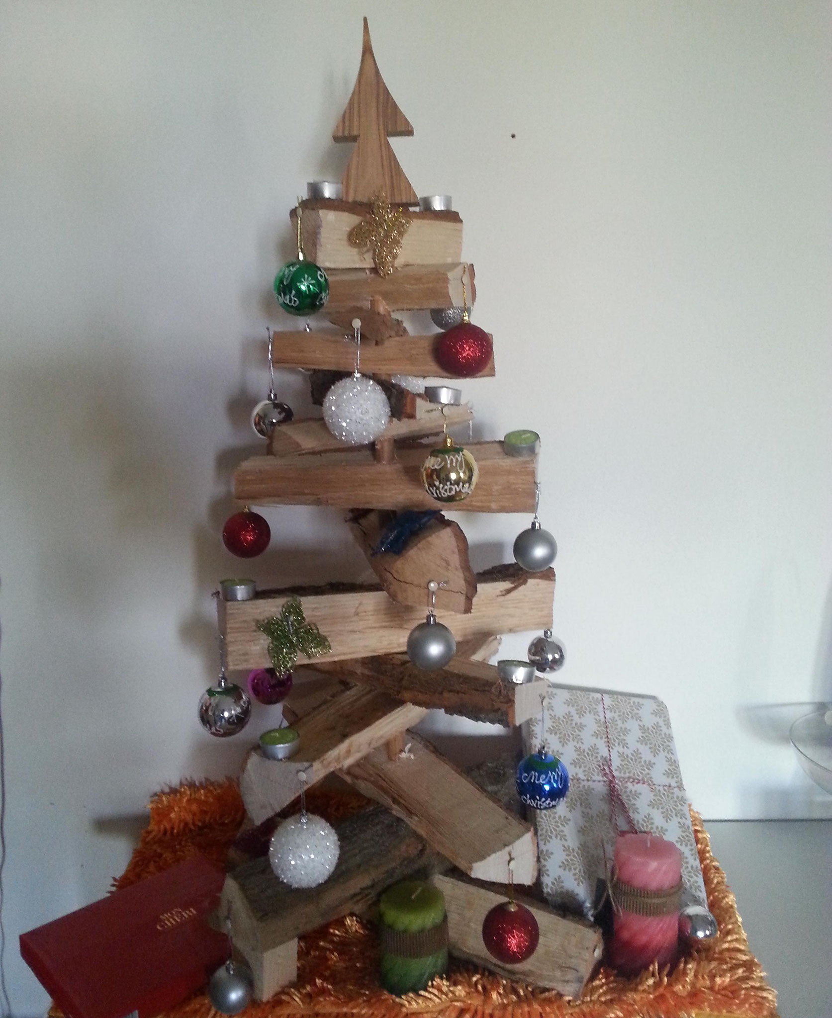 Christmas Tree, DIY, Oak