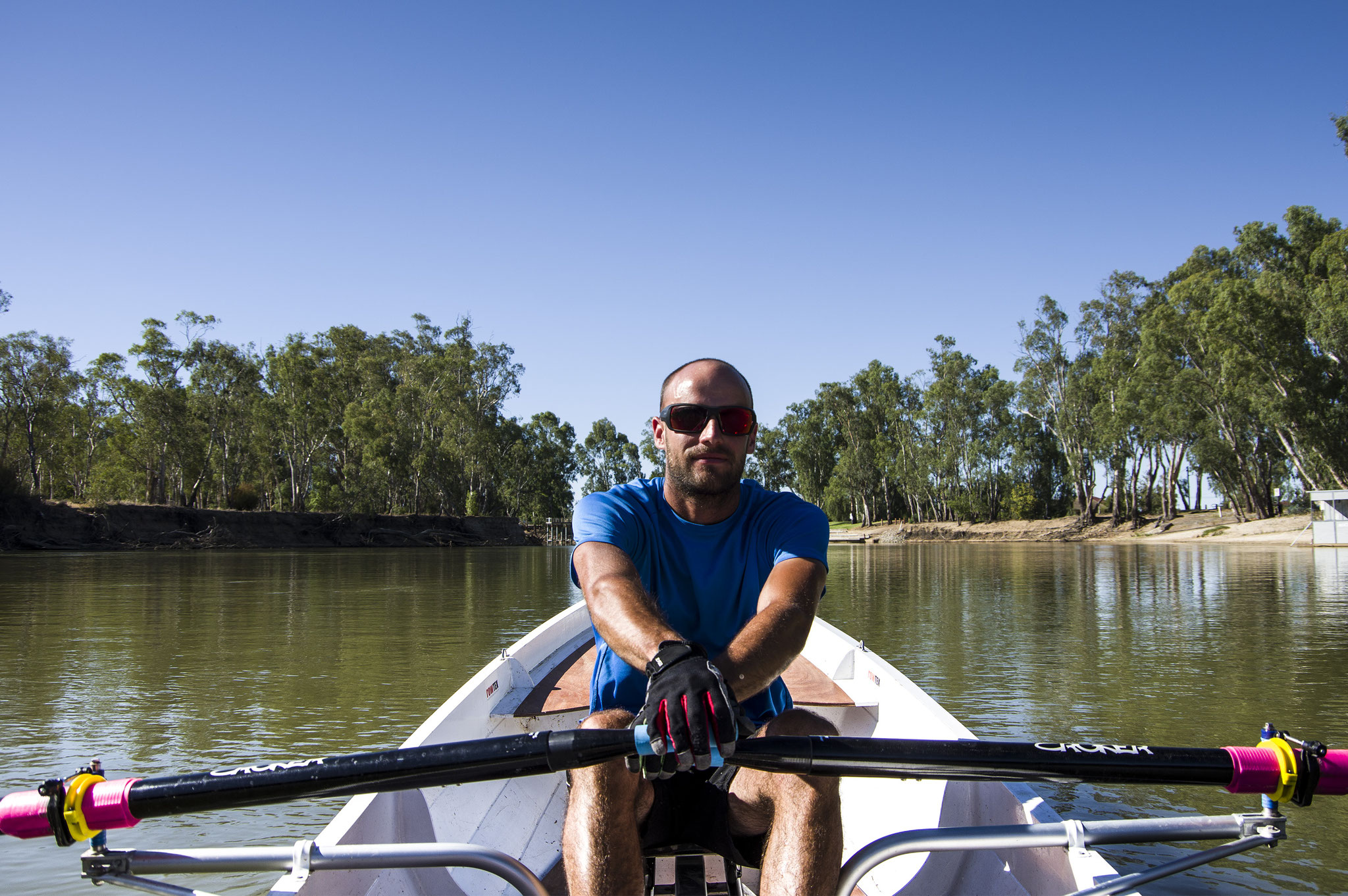 Dan O'Cker bei der 2.000km langen Murray River Challenge