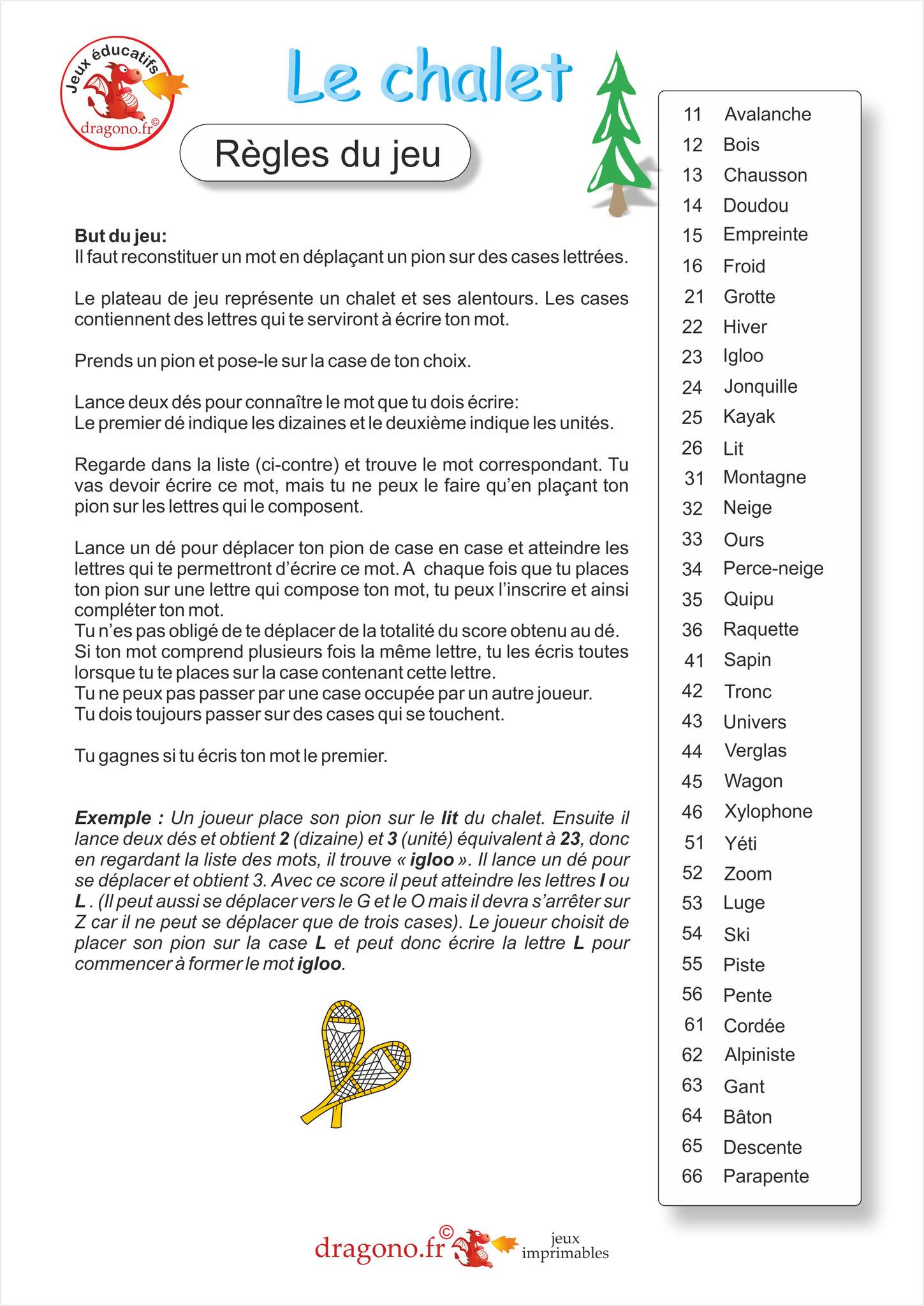 Jeu Educatif A Imprimer Pour Apprendre L Orthographe Des Mots