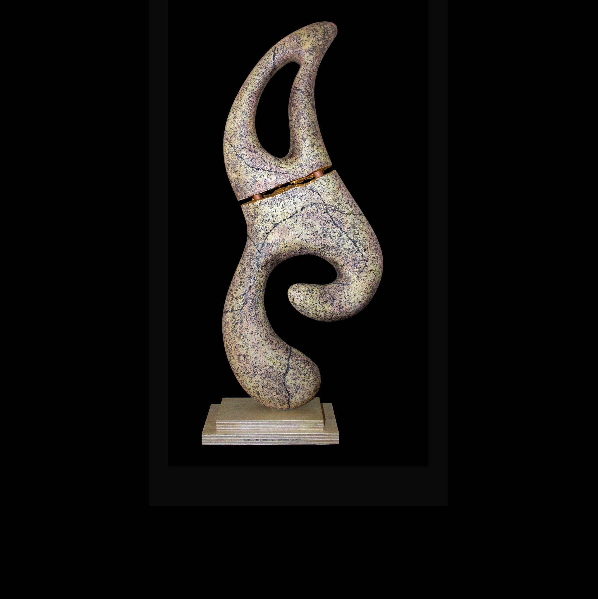Goldene Mitte | Versprochen - gebrochen - gehalten. | HxBxT: 77x33x15 cm
