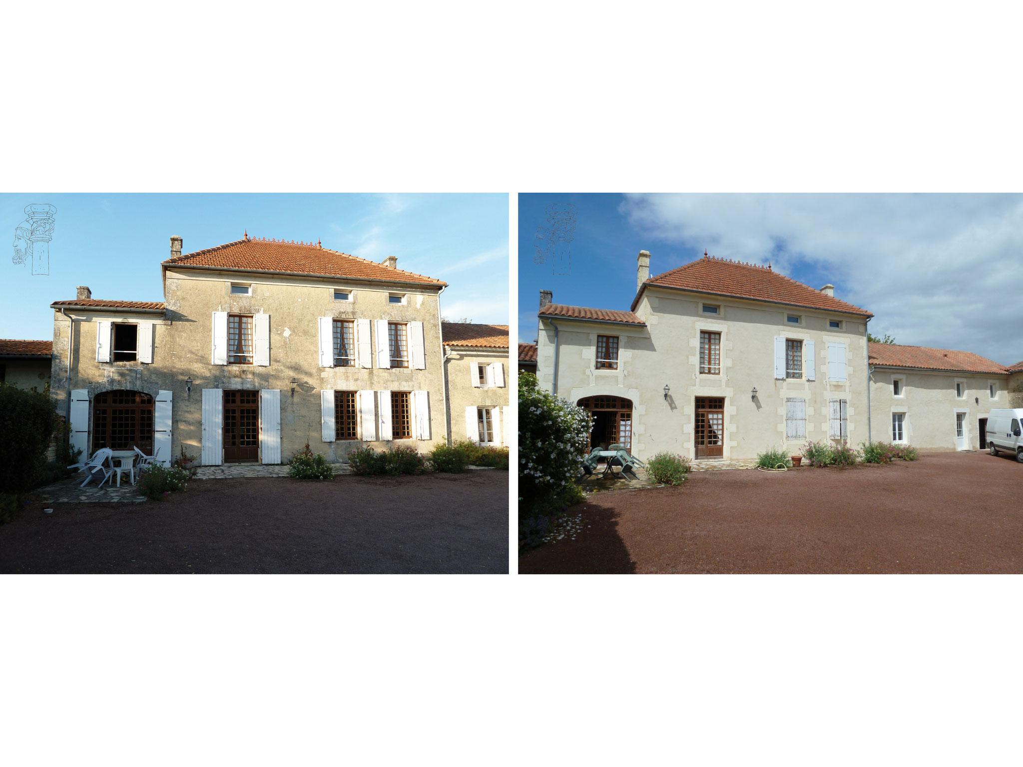 Restauration d'une façade Avant/Après