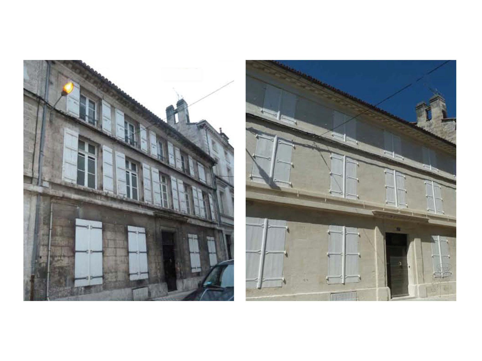 Nettoyage d'une façade Avant/Après