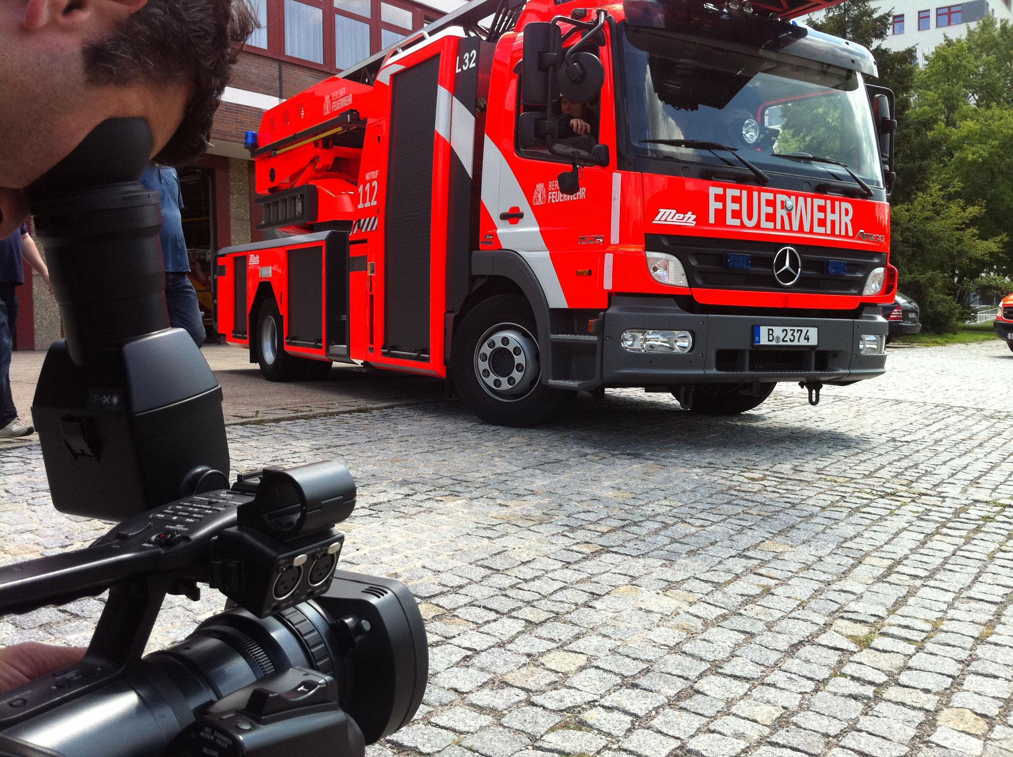 Dreh mit der Berliner Feuerwehr