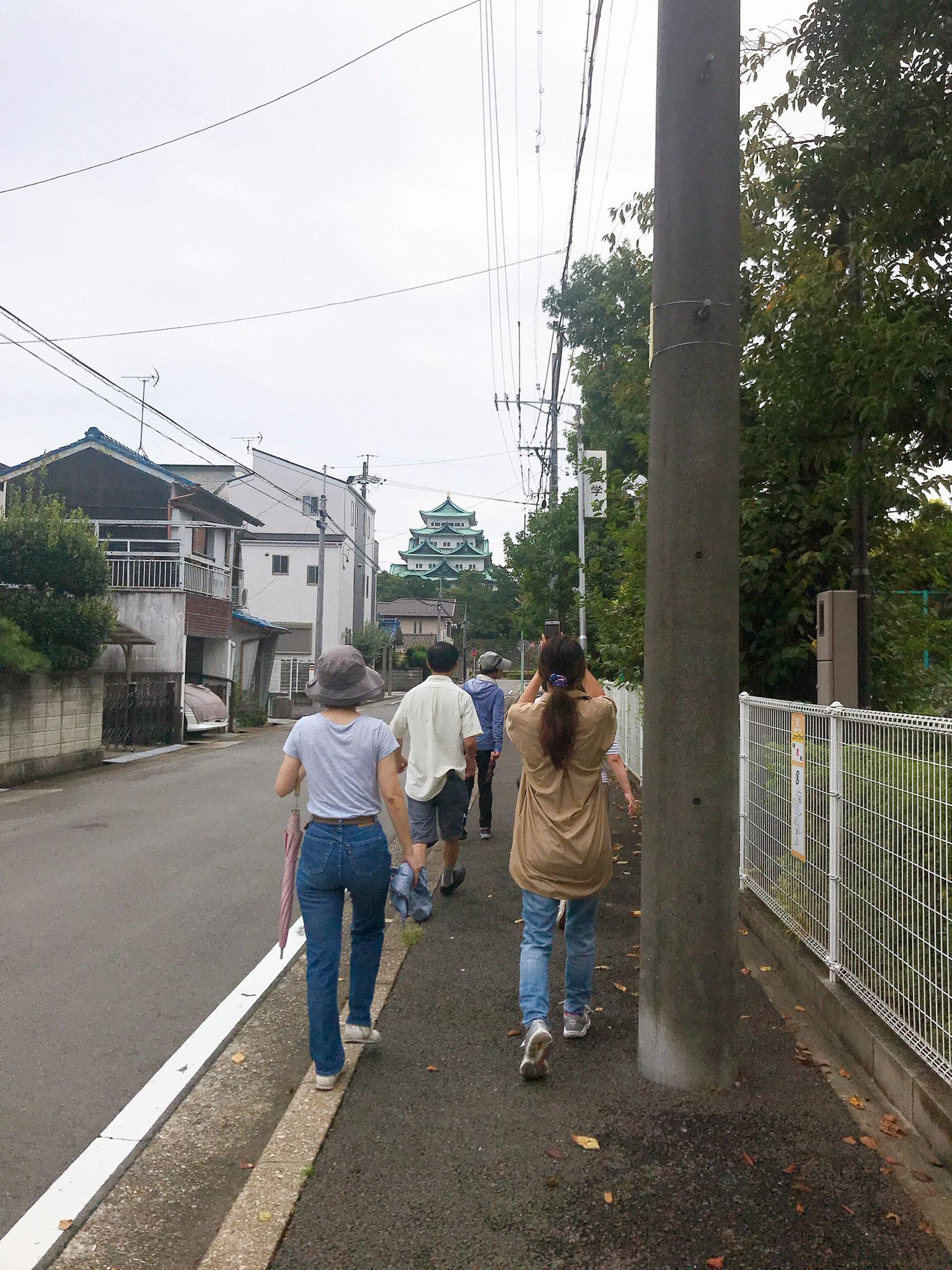 遠くに見えるのは名古屋城です^^