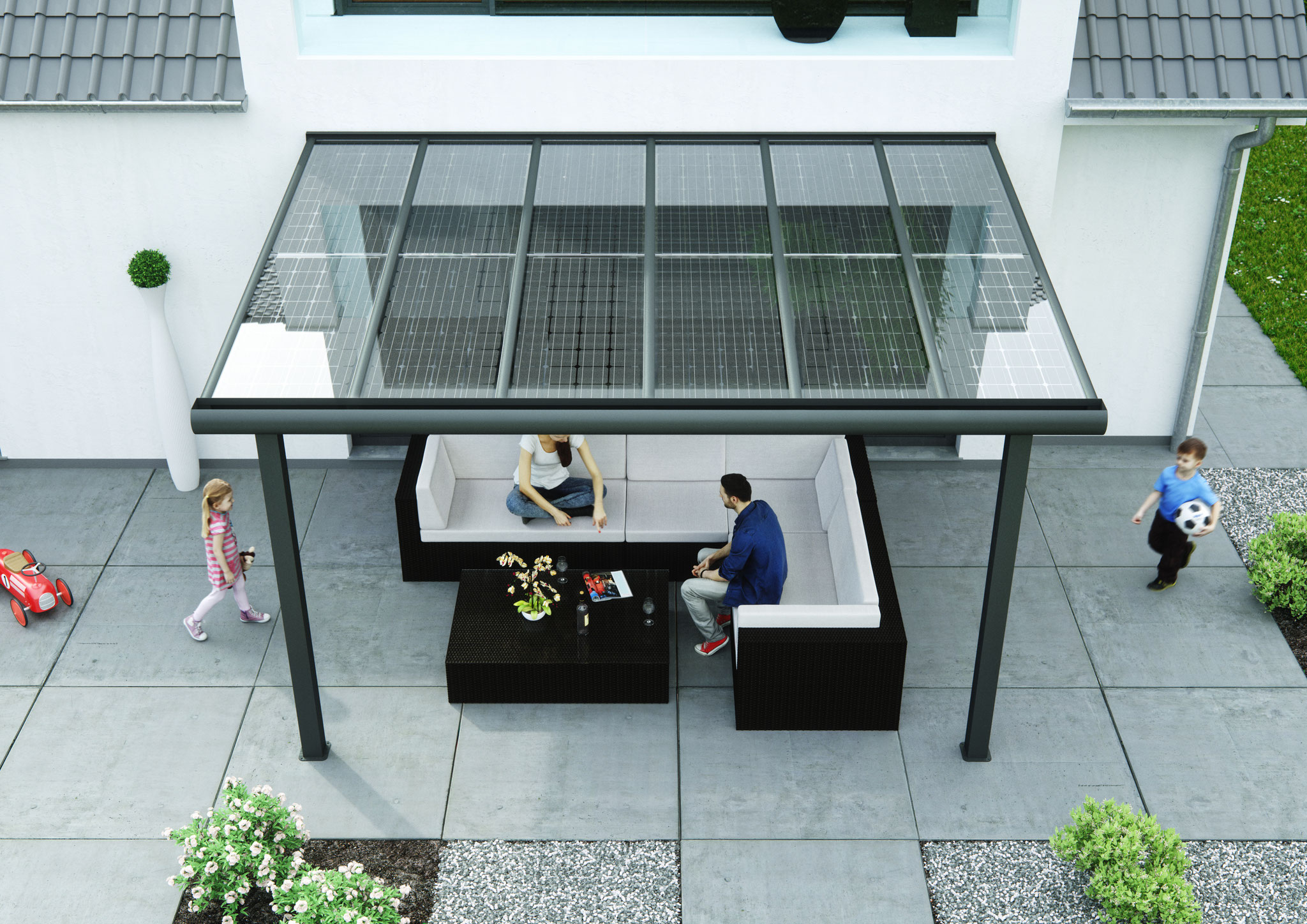 Aluminum Terrace Roof 0 With Solar As Sun Protection Premium