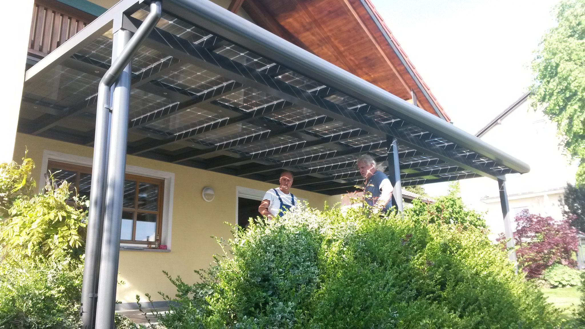 Solar plant on terrace