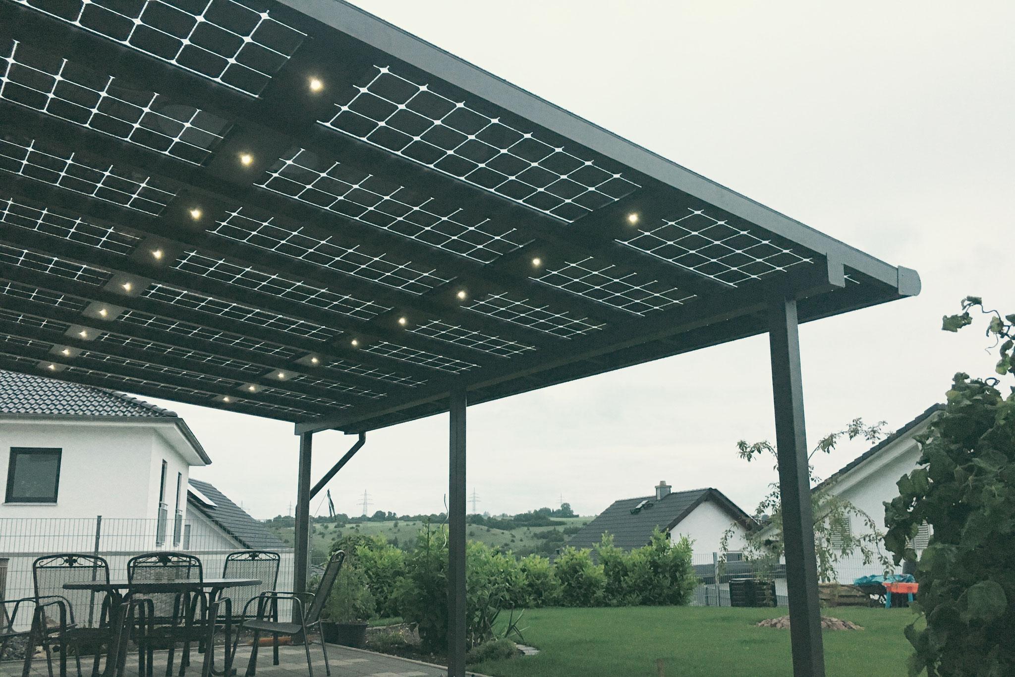 Canopy roof lighting