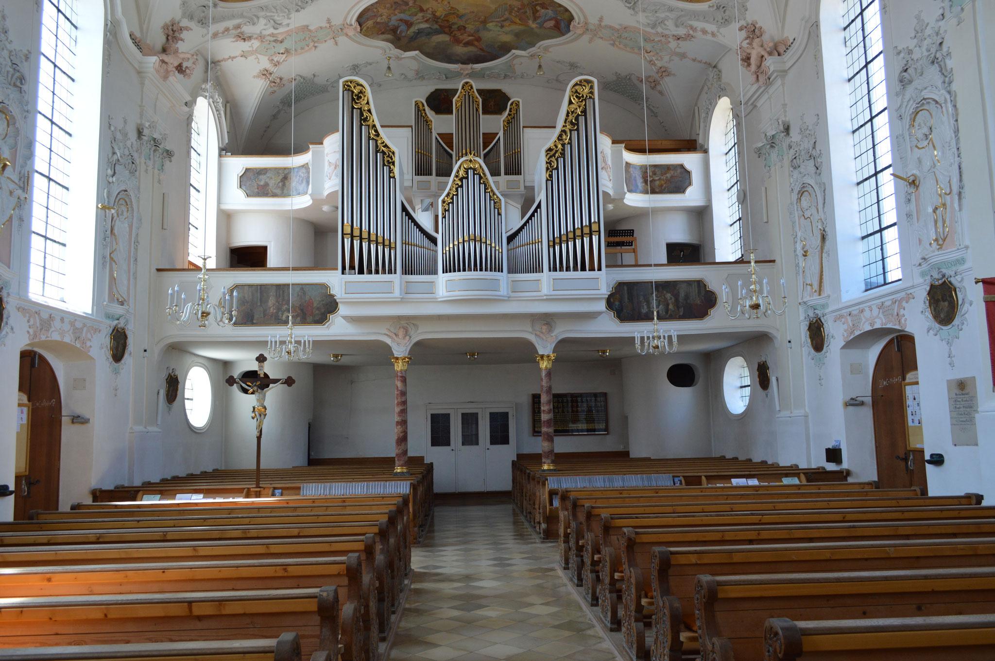 Empore mit Orgel der Pfarrkirche