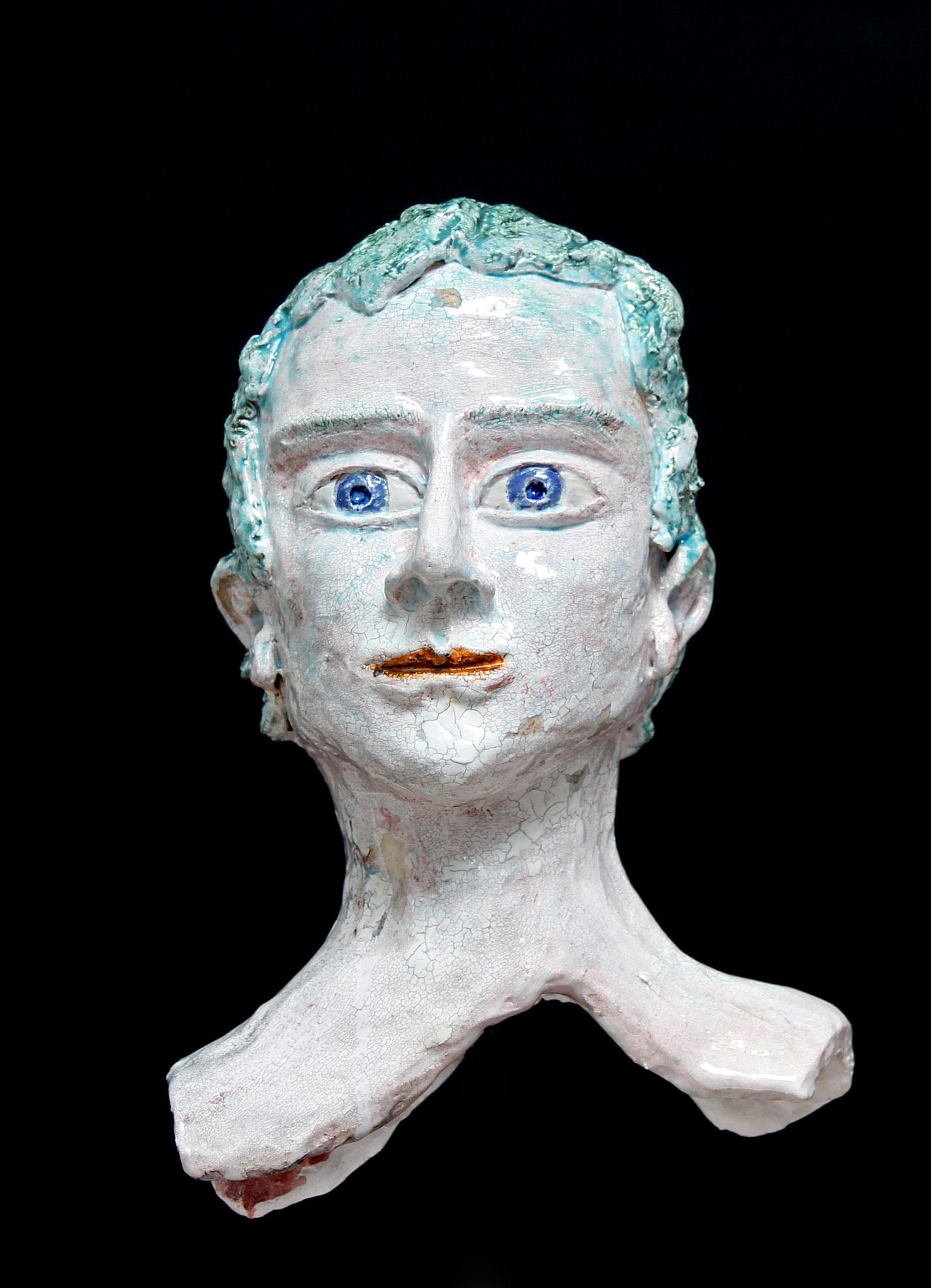 NACHDENKLICHER MANN 33x22x18 cm