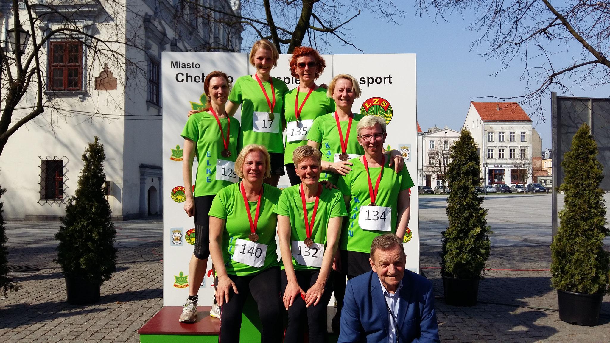 Mündener Läuferinnen beim Altstadtlauf in Chelmno