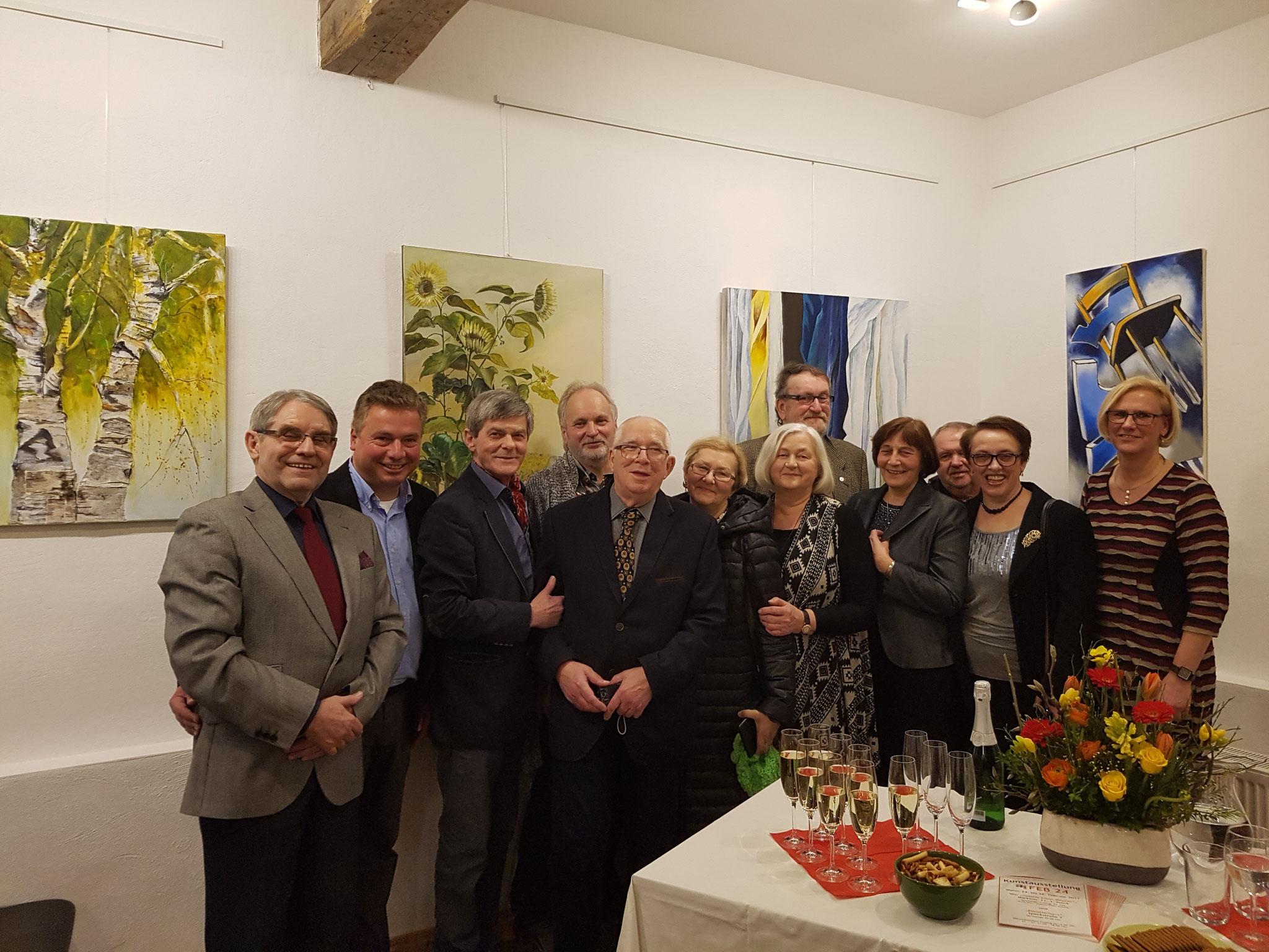Polnische Künstler zu Gast beim Kunstnetz in der Speckstraße