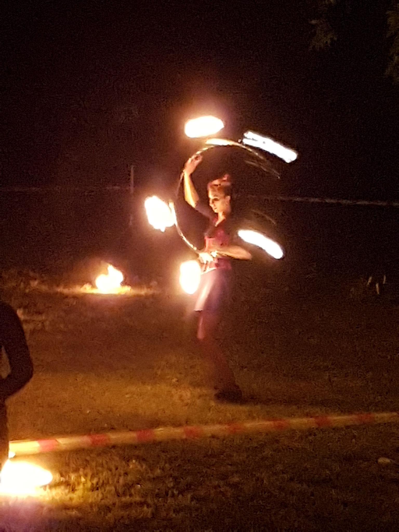 Feuershow beim Altstadtfest in Chelmno