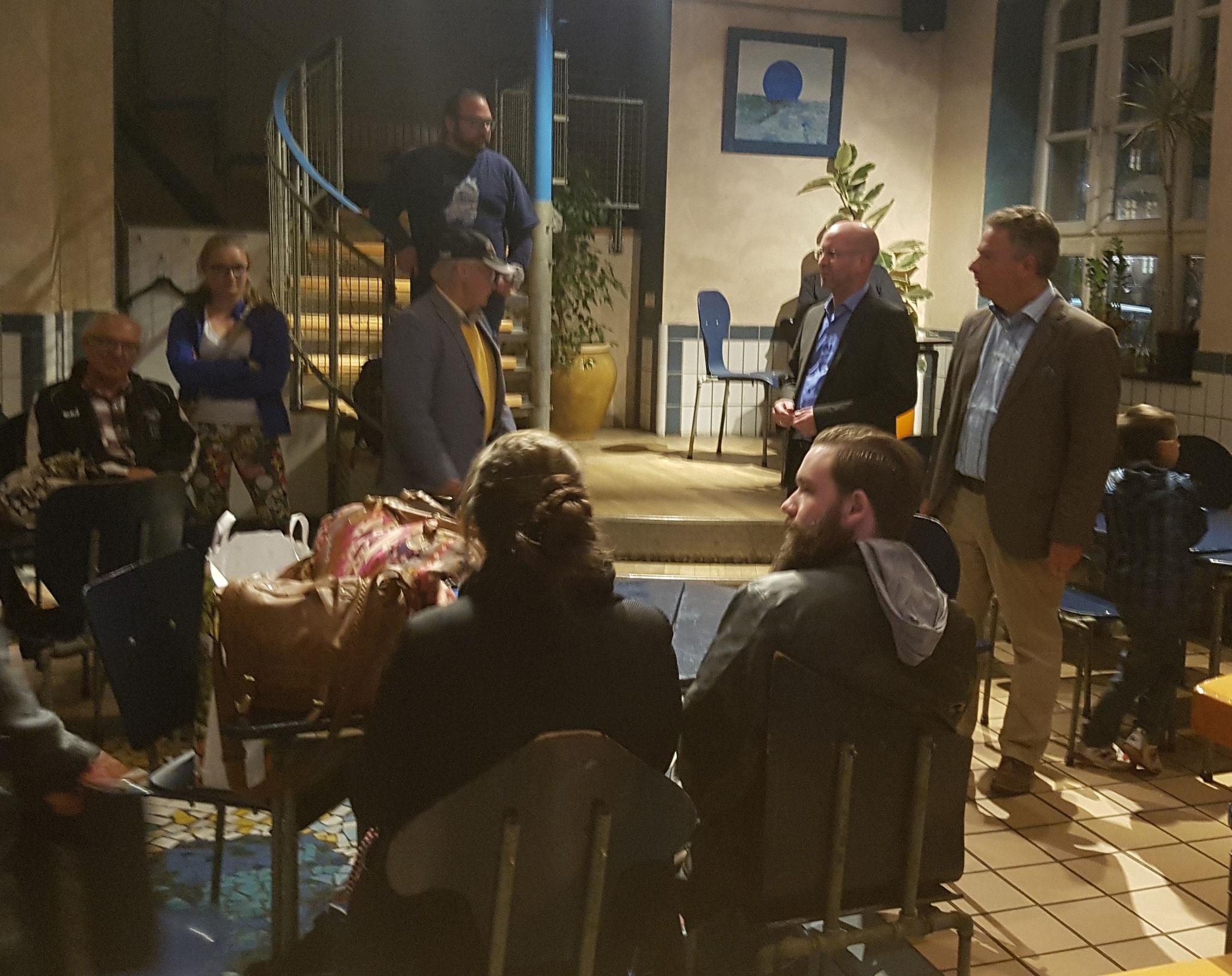 Begrüßung durch Bürgermeister Harald Wegener und den Vorsitzenden des Partnerschaftsverein Frank Stryga
