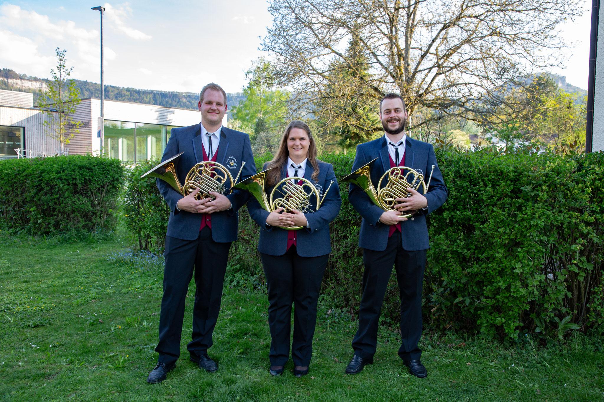 Horn: Marius Mundt, Christine Vögele, Andreas Bühler