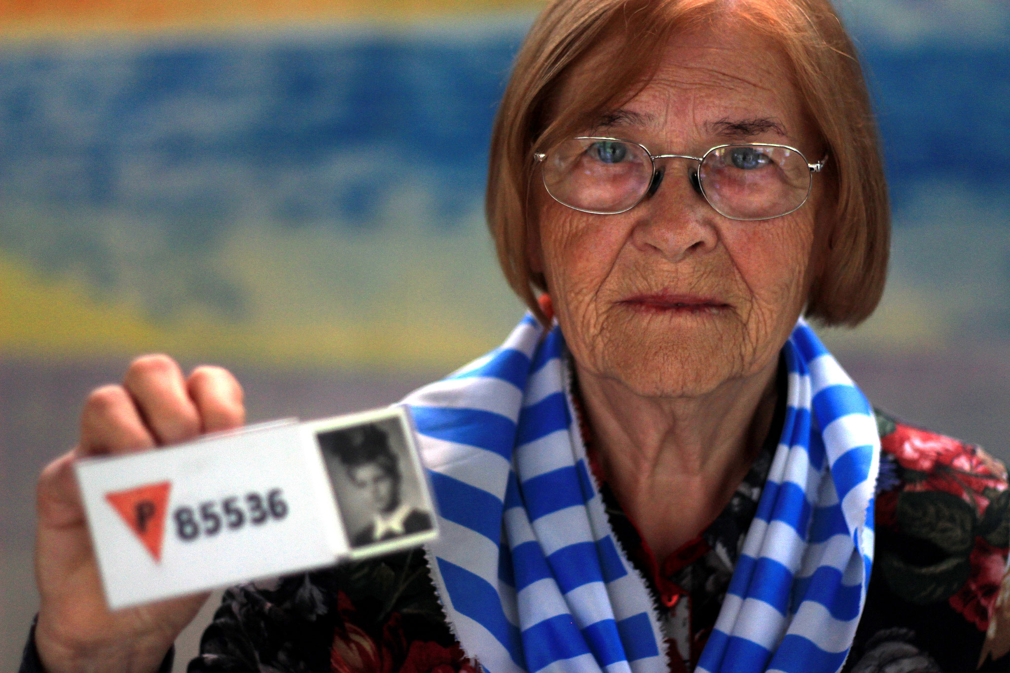 Elzbieta Sobczynska, concentration camp survivor. May 2015.