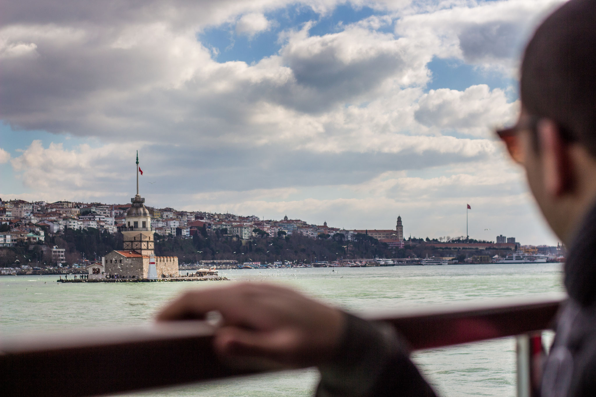 Maiden Tower and Bosporus, Istanbul. March 2016.