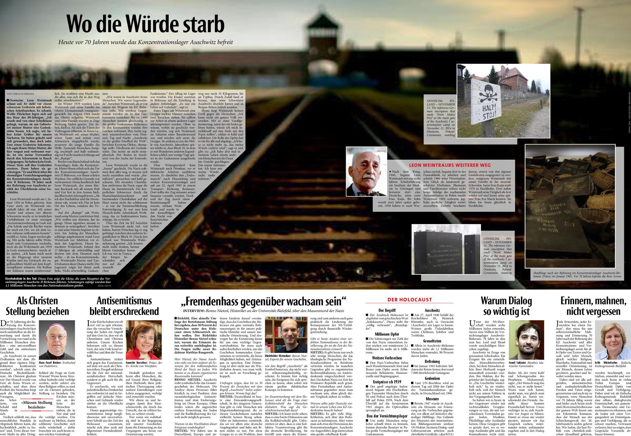 Neue Westfälische, [27.01.2015].  Texte und Fotos aus der Neuen Westfälischen sind urheberrechtlich geschützt.  Weiterverwendung nur mit schriftlicher Genehmigung der Redaktion.