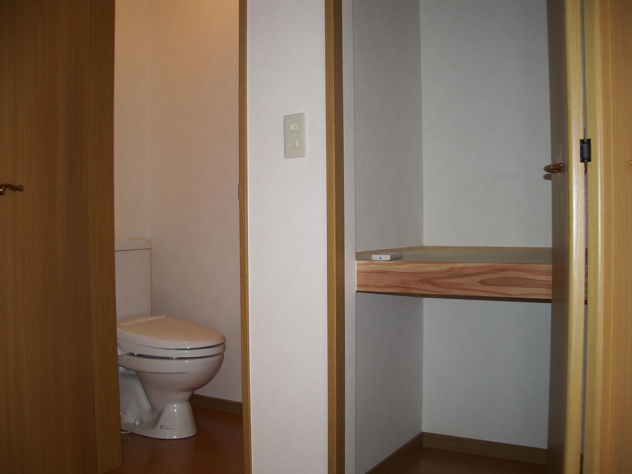 各部屋のトイレ・クロゼット備え付け