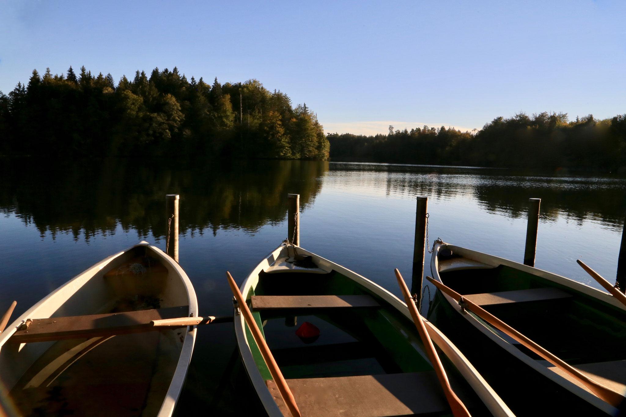 Bootsanleger am Langenbürgener See