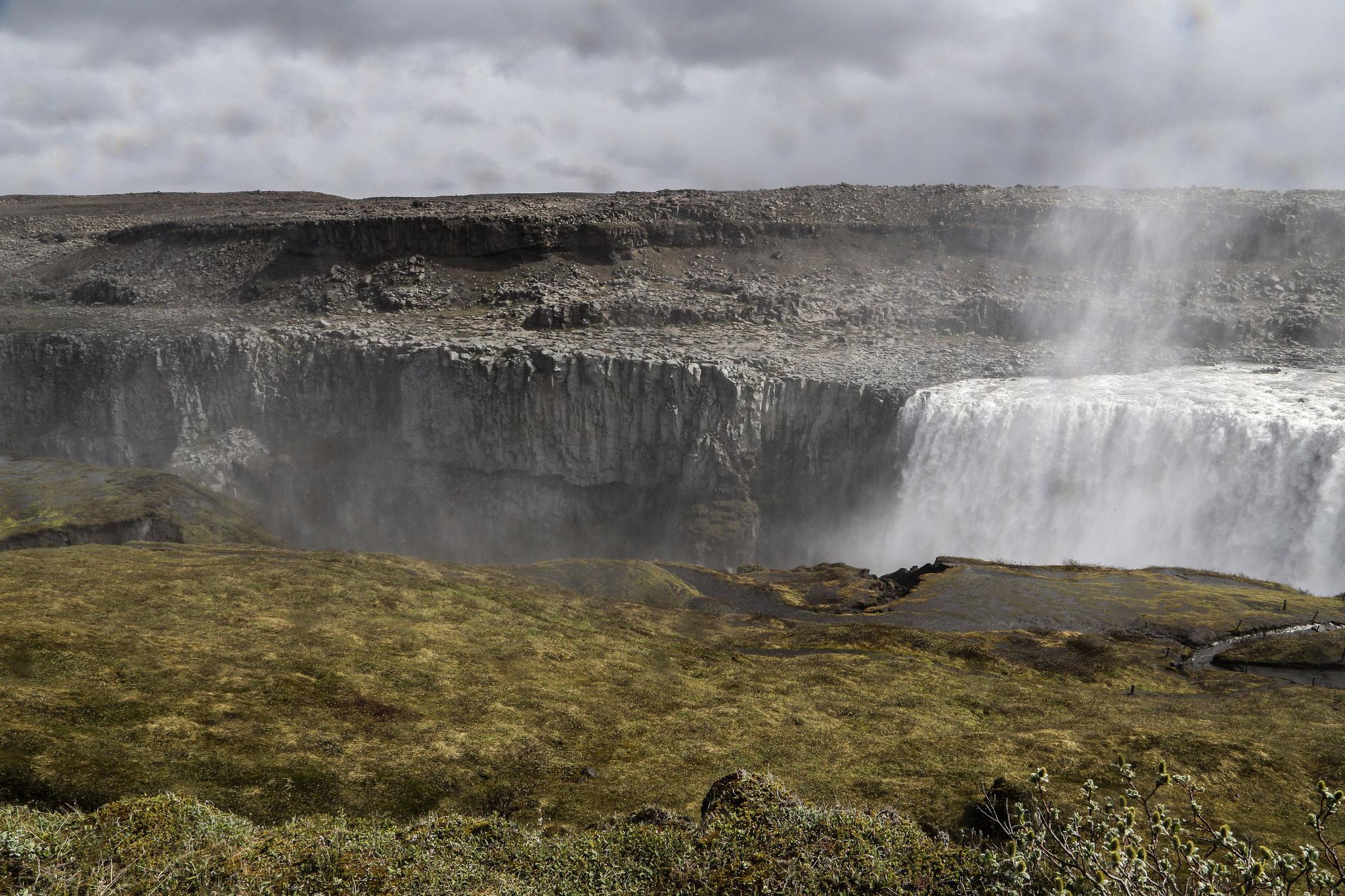 Dettifoss - 44 m hoch, über 100 m breit