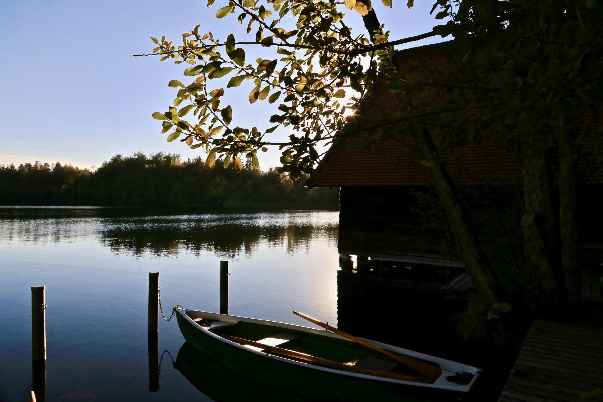 Bootshaus am Langenbürgener See