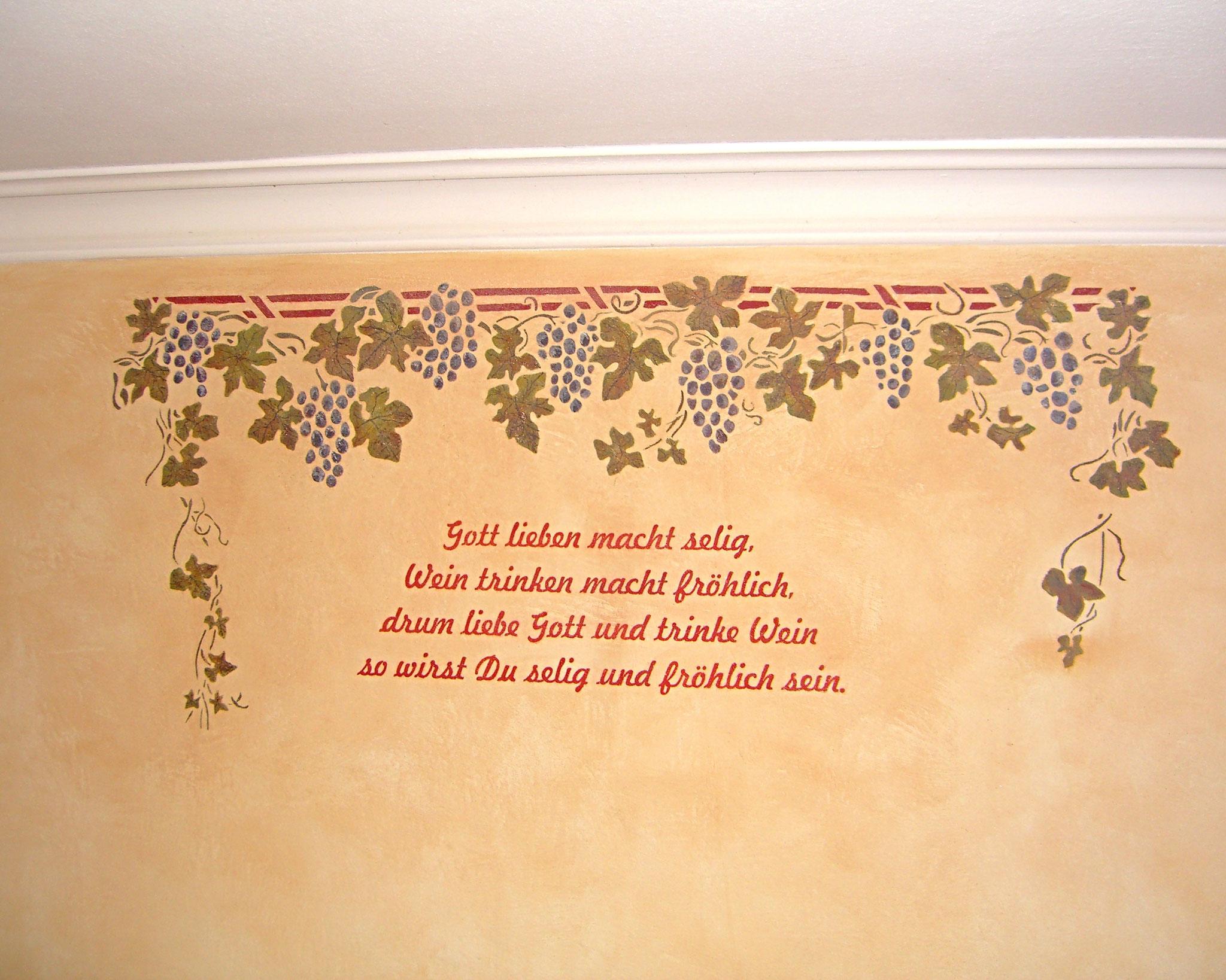 Wandspruch - Malerei Wagner Persenbeug
