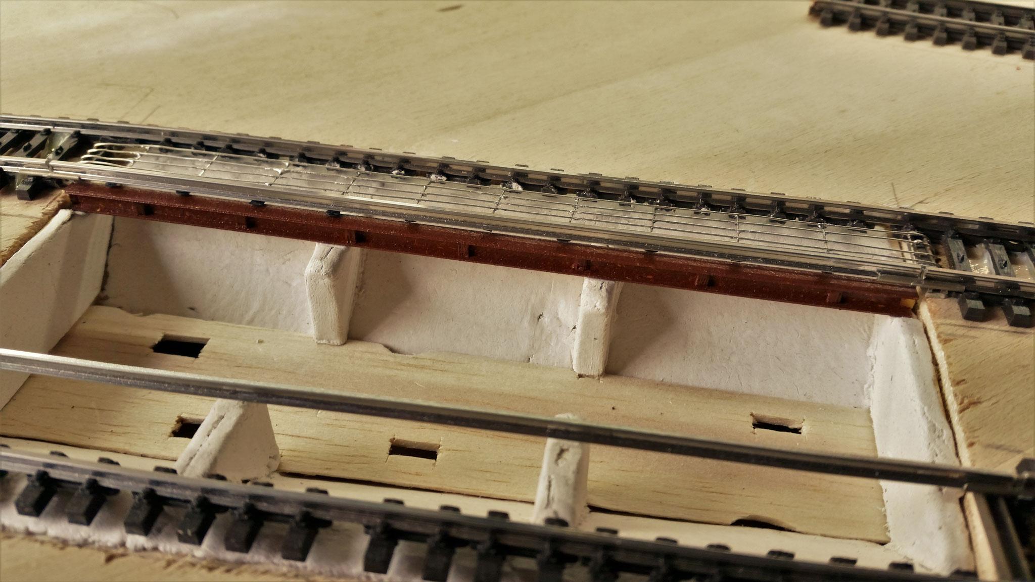 """Erster """"Visual-Check"""" :) Hier ist auch die Schicht Beton aus der Knetmasse zu sehen"""