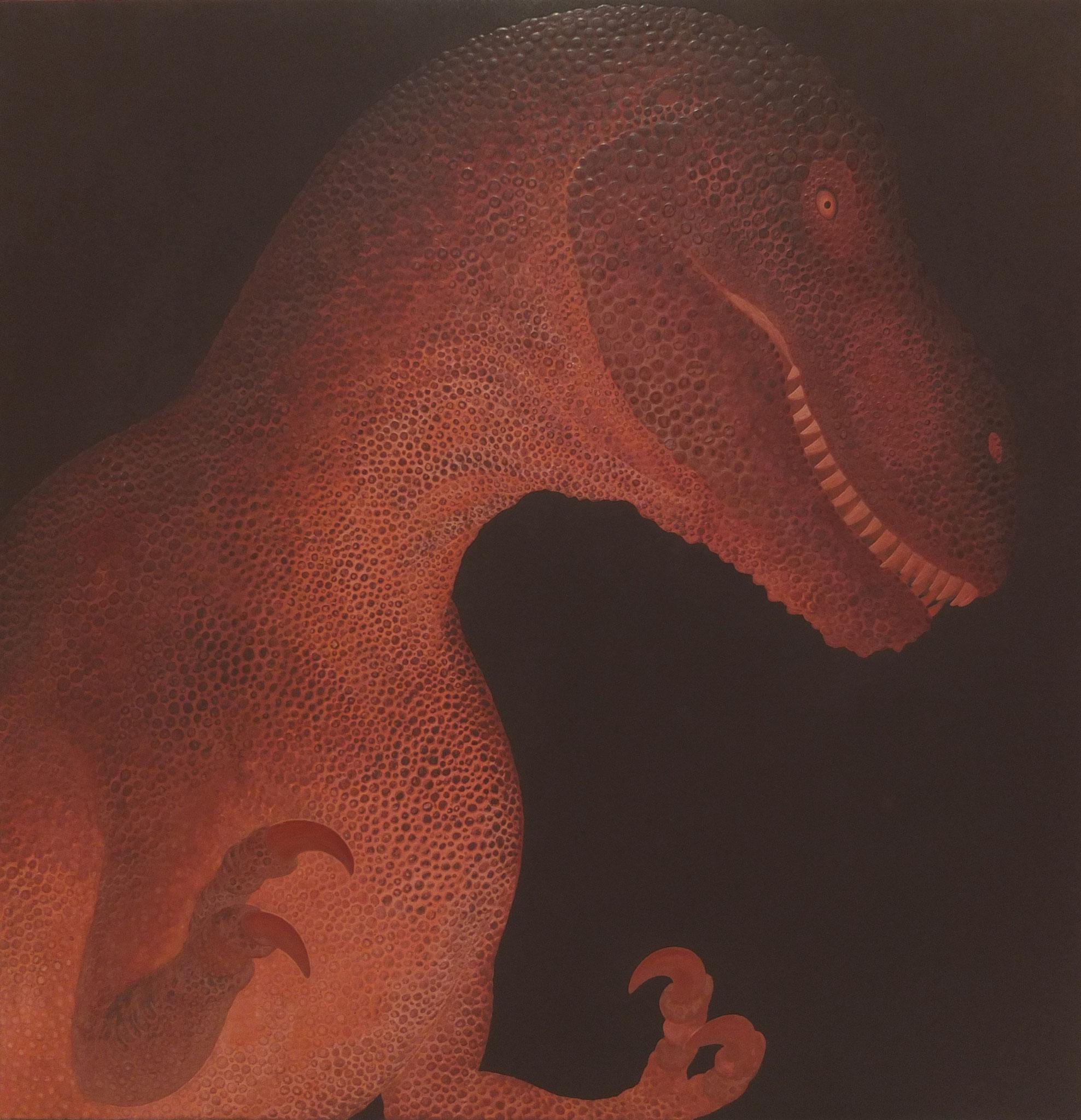 題名:Rex  画寸:530mm×530mm / 10S メディア:麻紙・膠・岩絵具