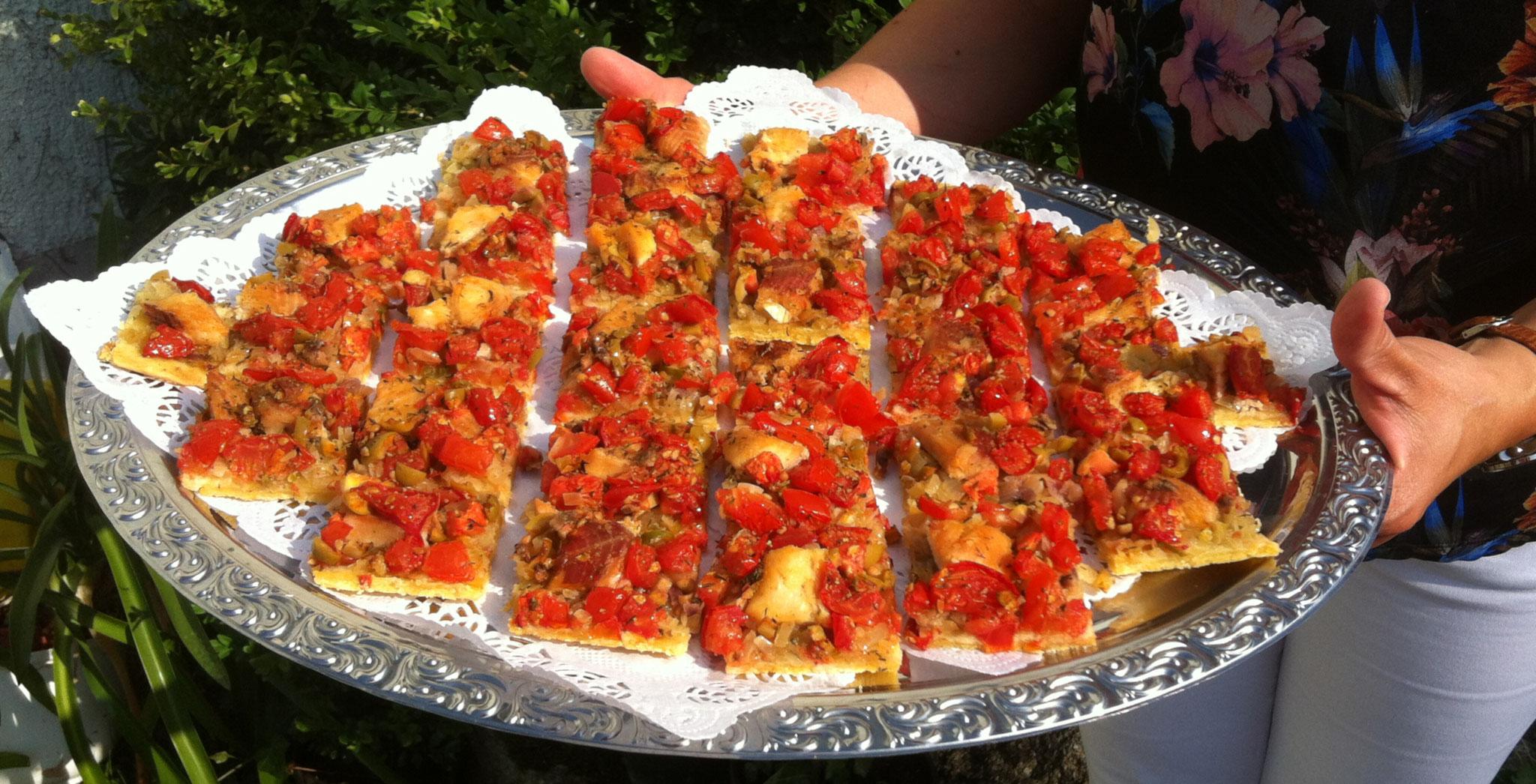 Fischkuchen im Sommer-Stil