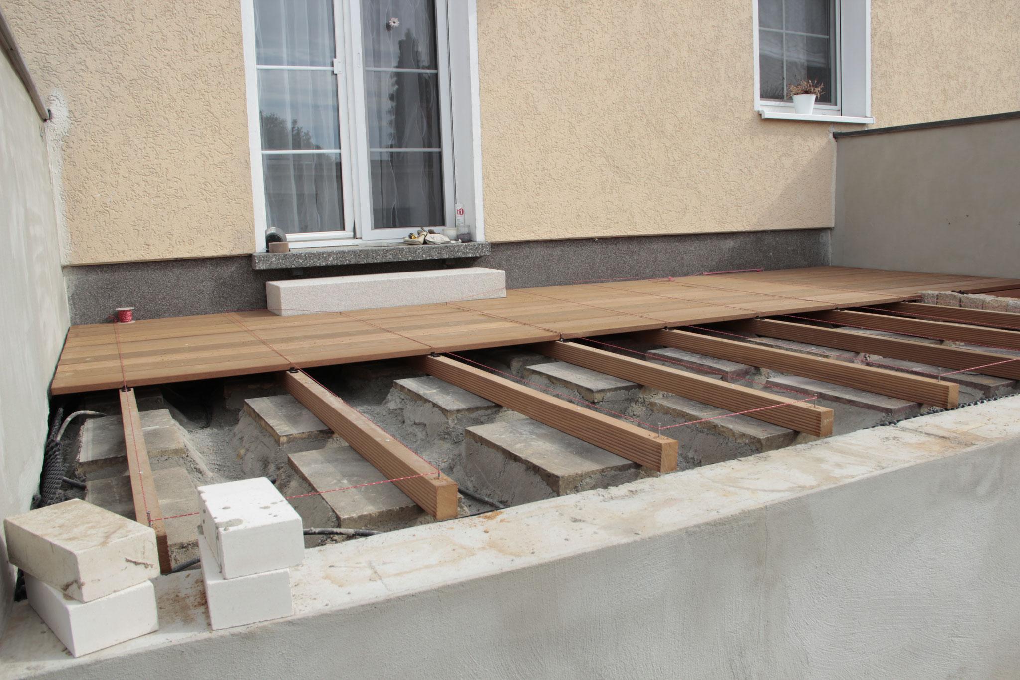 Deckschicht aus Bangkiraiholz