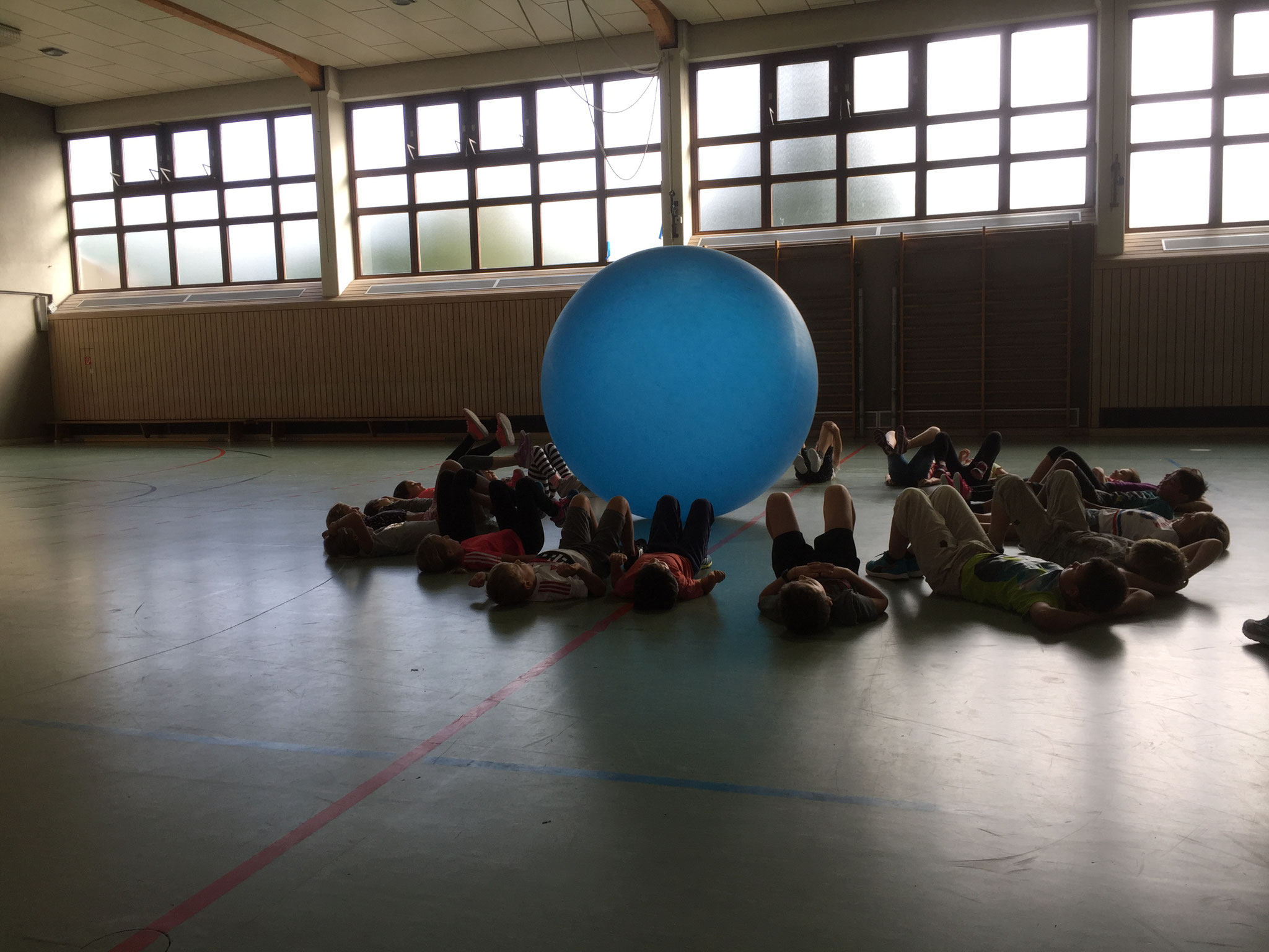 Kooperation war gefragt beim Big Ball