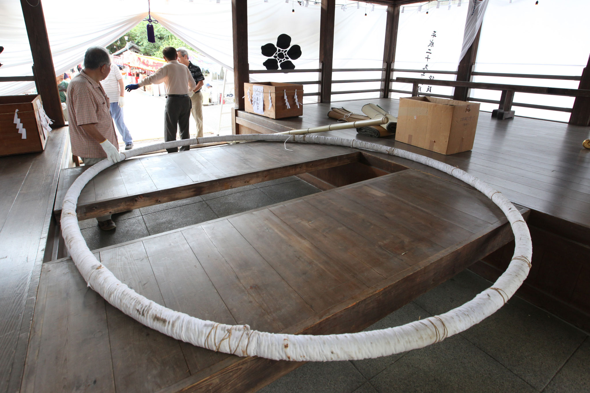 茅の輪製作
