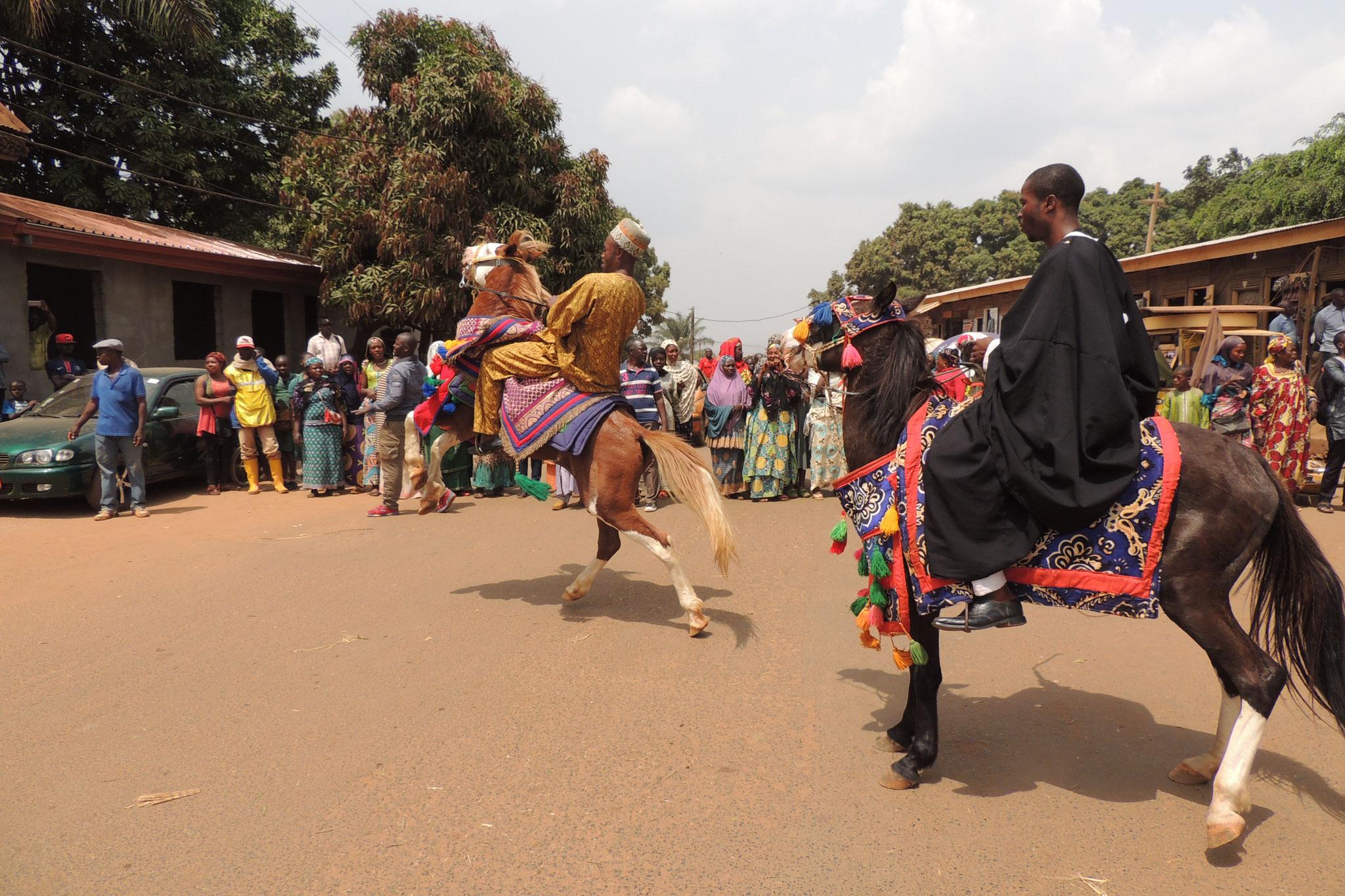 Caballos de celebracion en Foumban