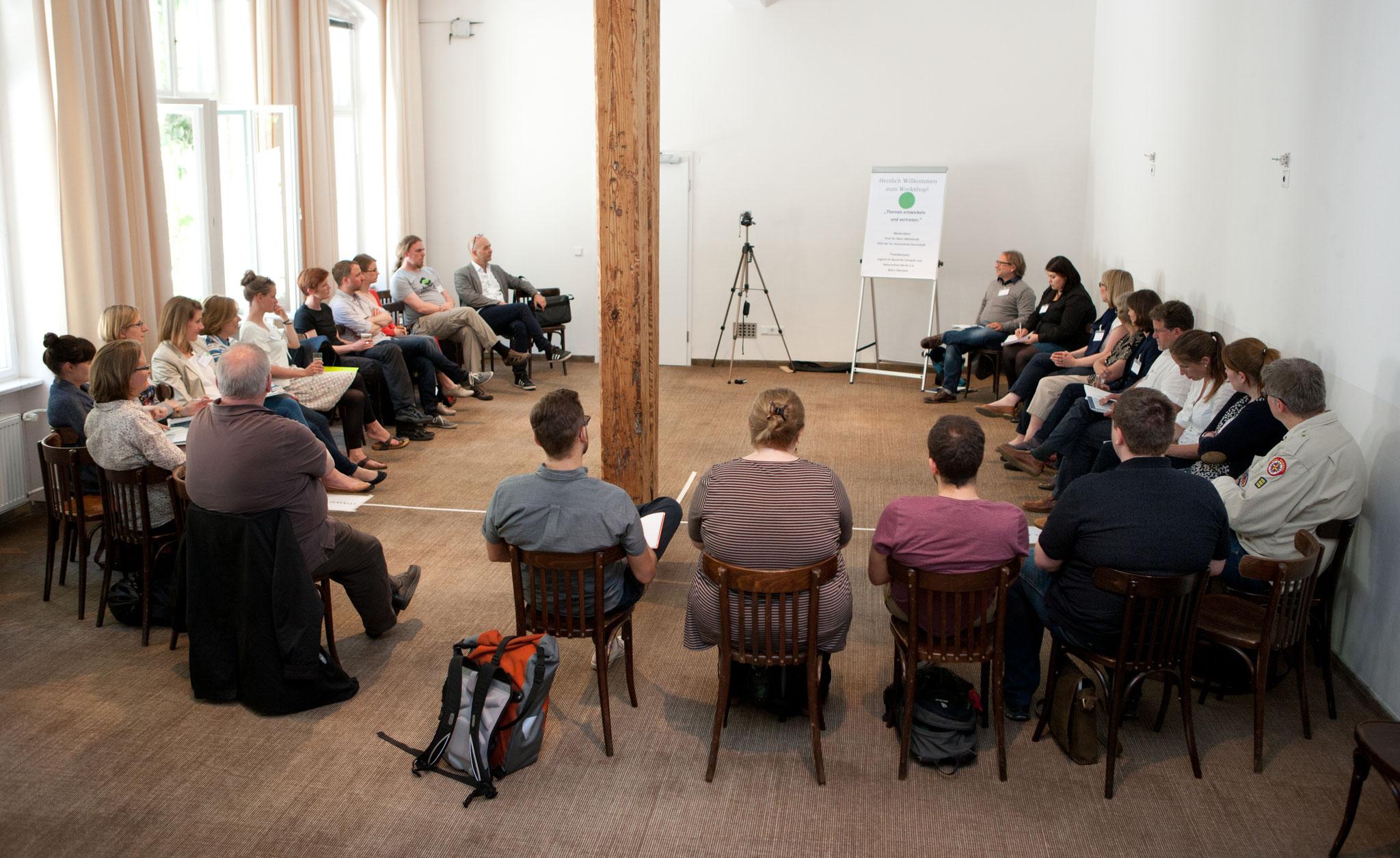 Mithilfe einer Fotoanalyse werden im schnellen Wechsel die Meinungen der Jugendorganisationen abgefragt. © Bertelsmann Stiftung