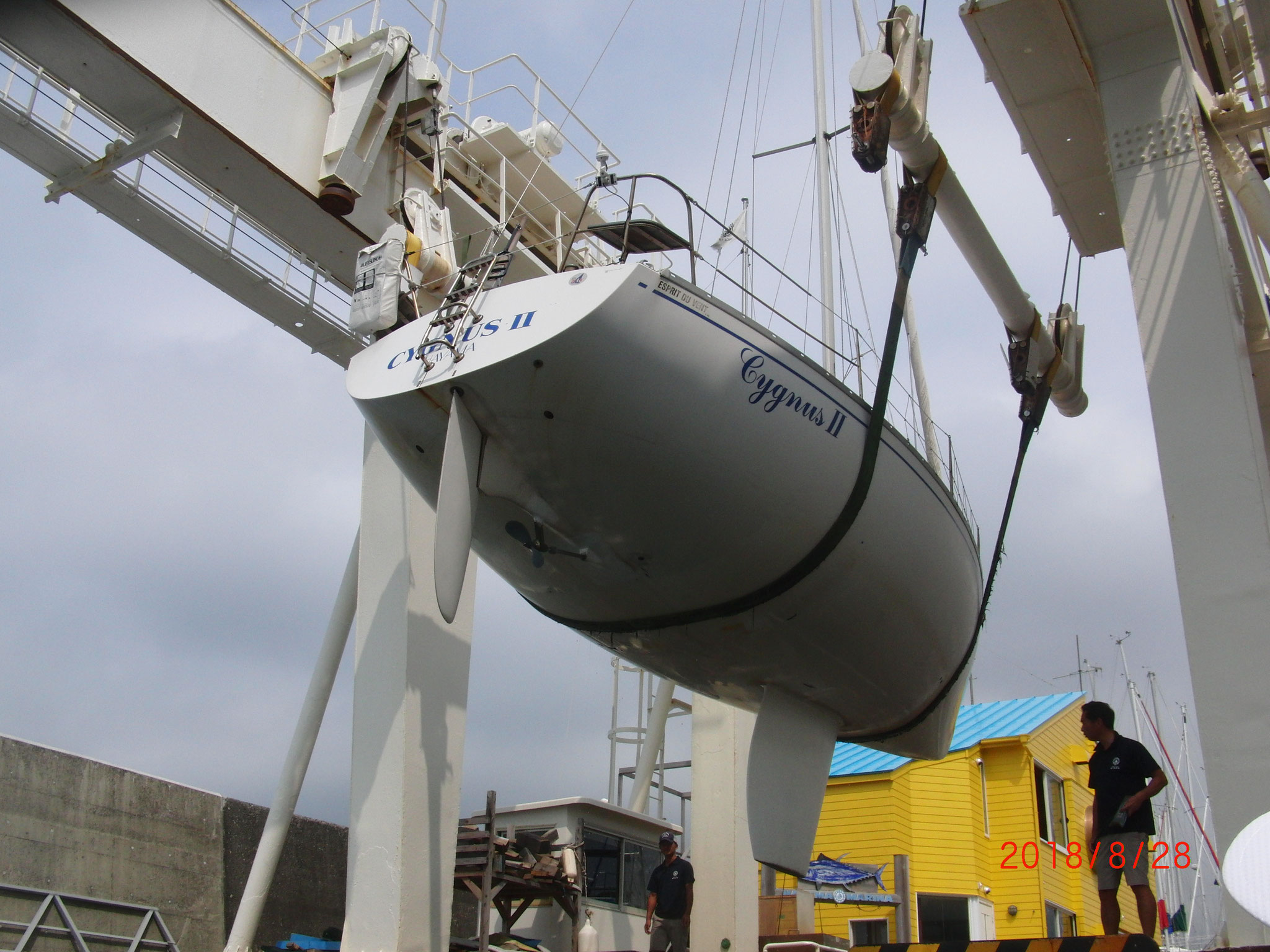 乗艇予定の「シグナス2世」 フランス製